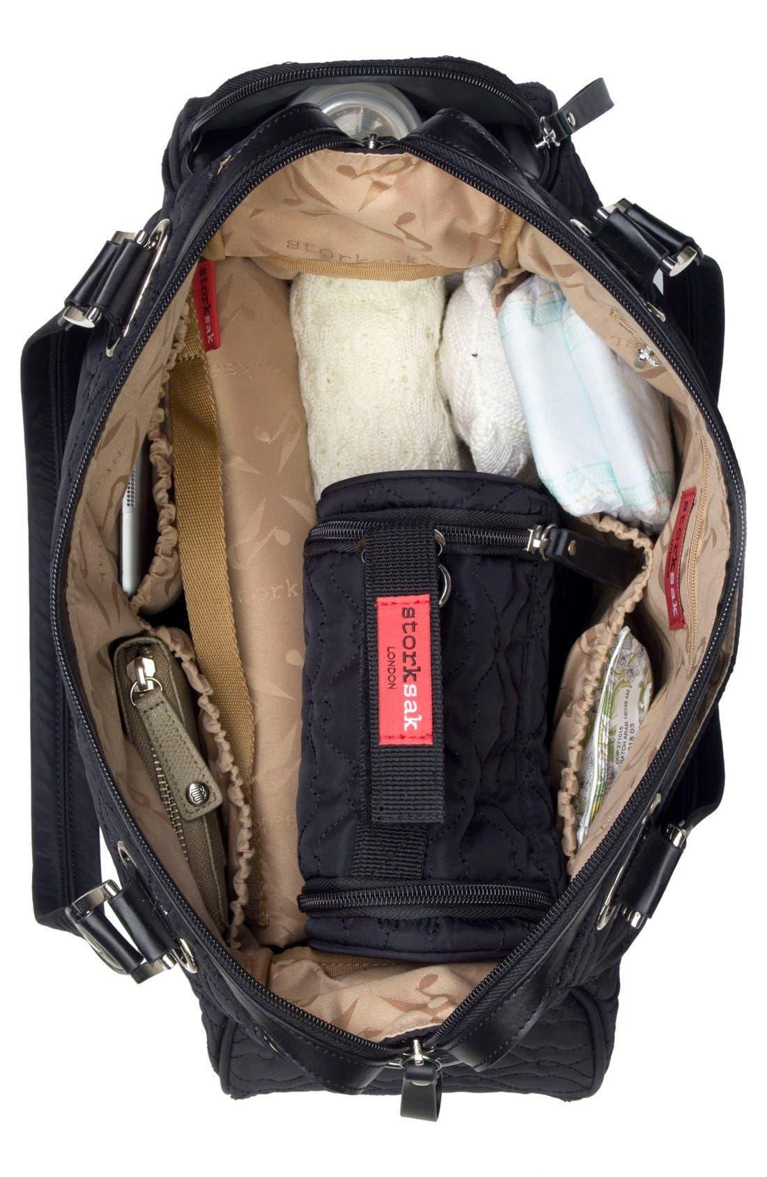'Anna' Diaper Bag,                             Alternate thumbnail 7, color,                             001