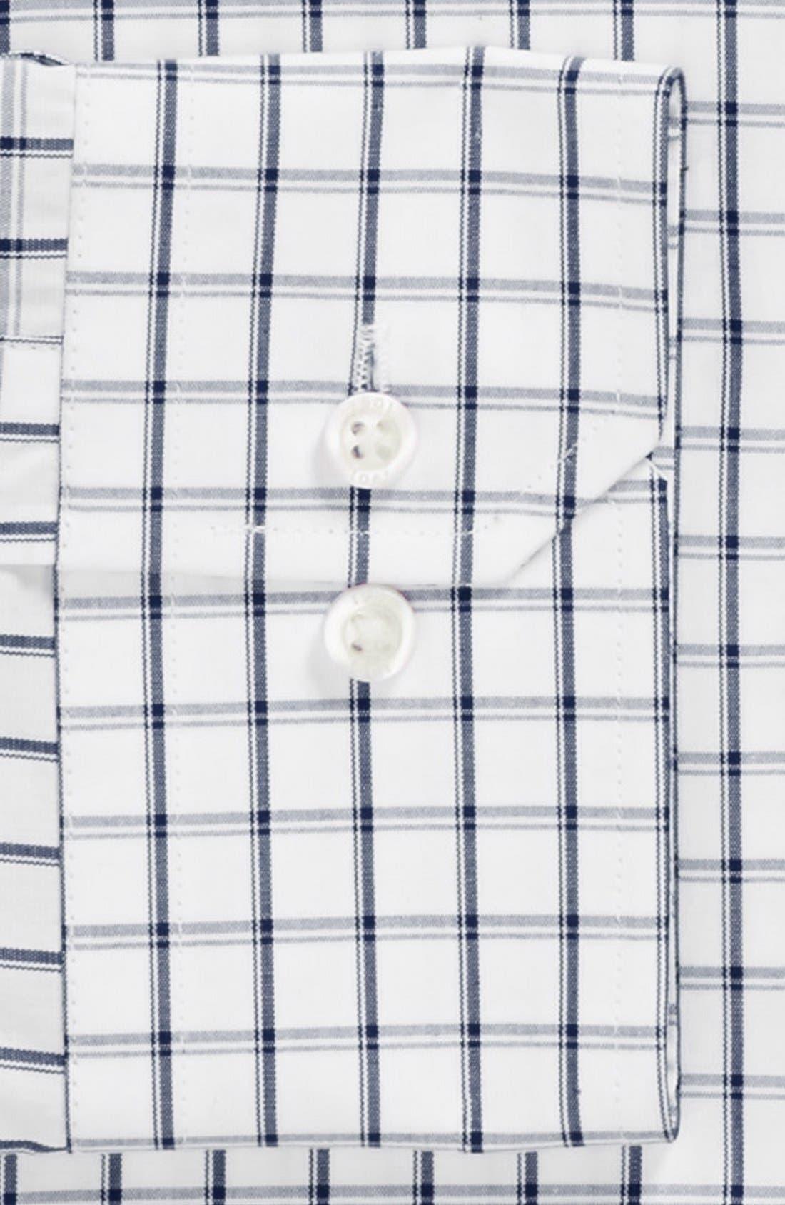 Trim Fit Check Dress Shirt,                             Alternate thumbnail 3, color,                             400