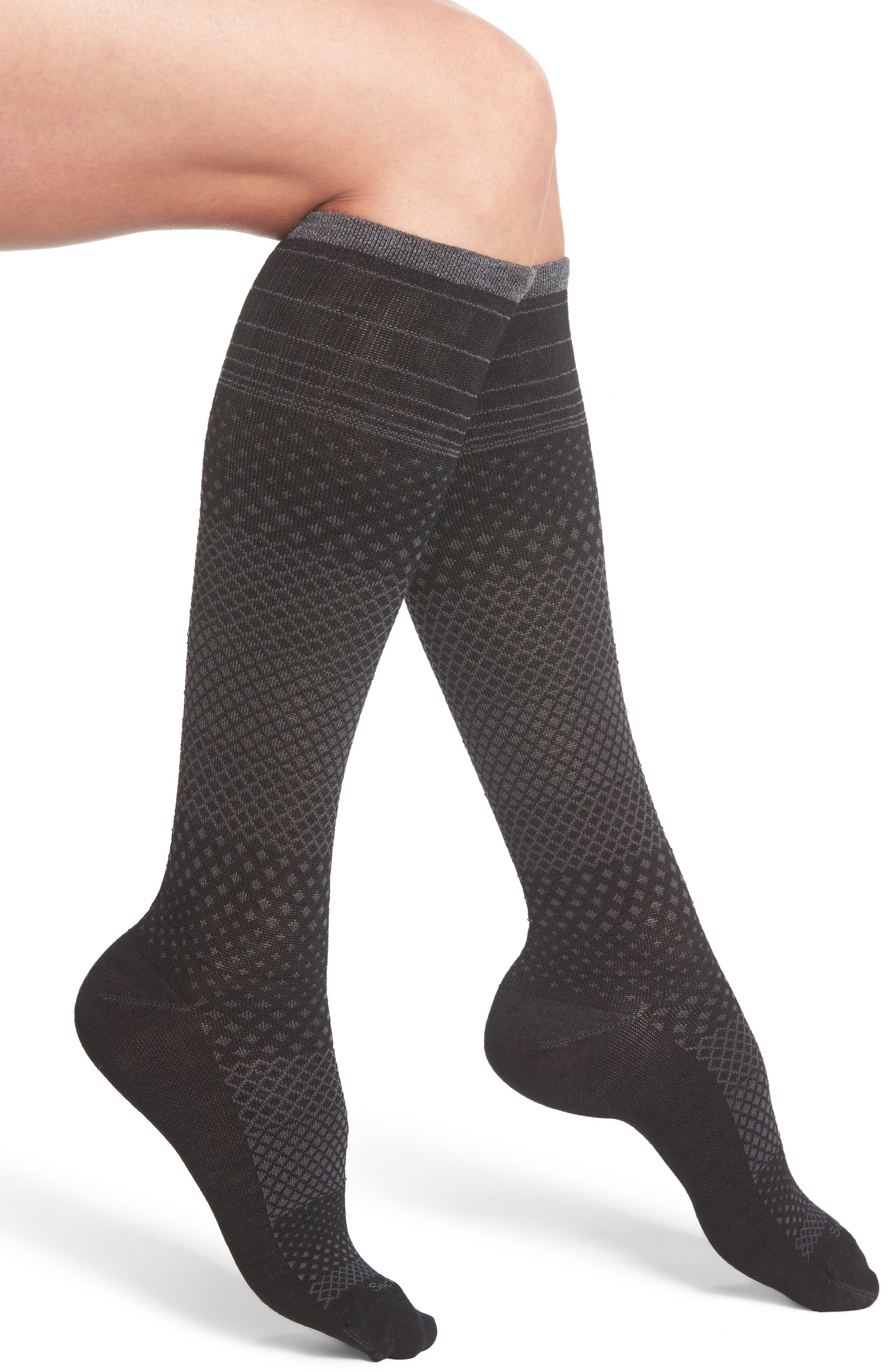 Micro Grade Compression Knee Socks,                             Main thumbnail 1, color,                             001