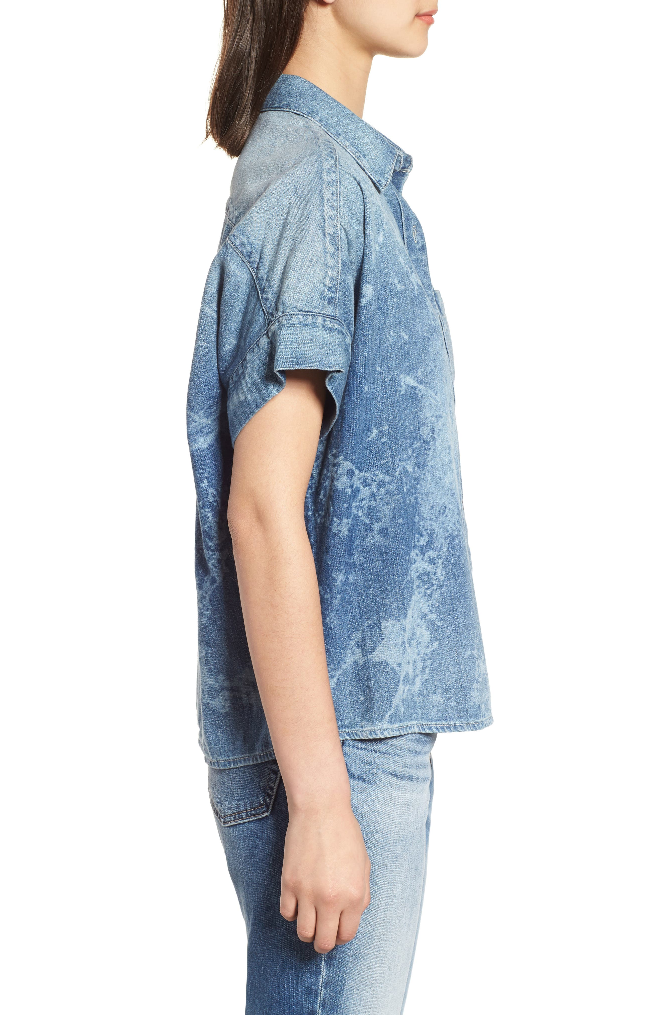 Hadley Denim Shirt,                             Alternate thumbnail 3, color,                             SUBLIME