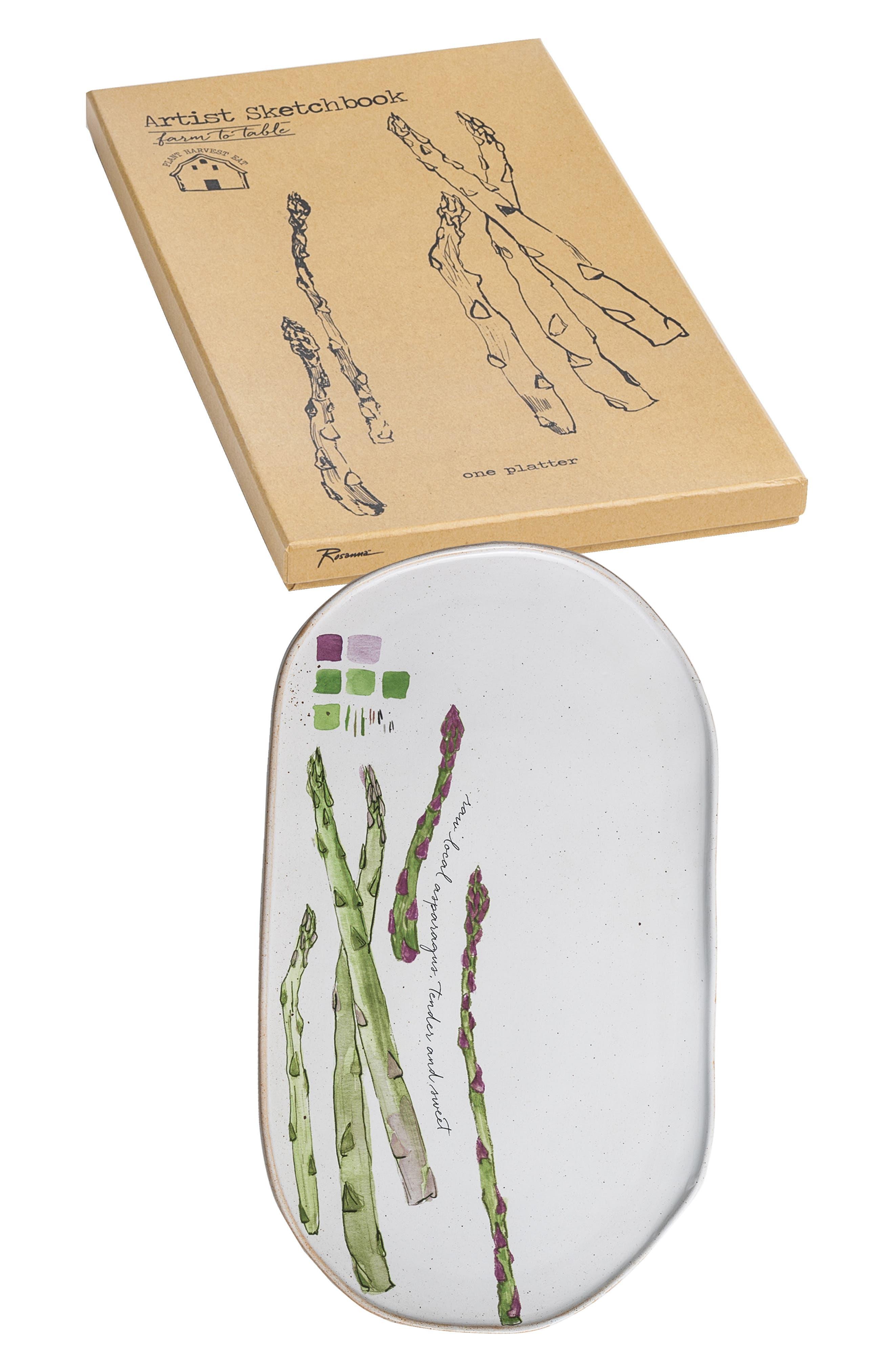 ROSANNA,                             Asparagus Oblong Platter,                             Main thumbnail 1, color,                             BEIGE/MULTICOLOR