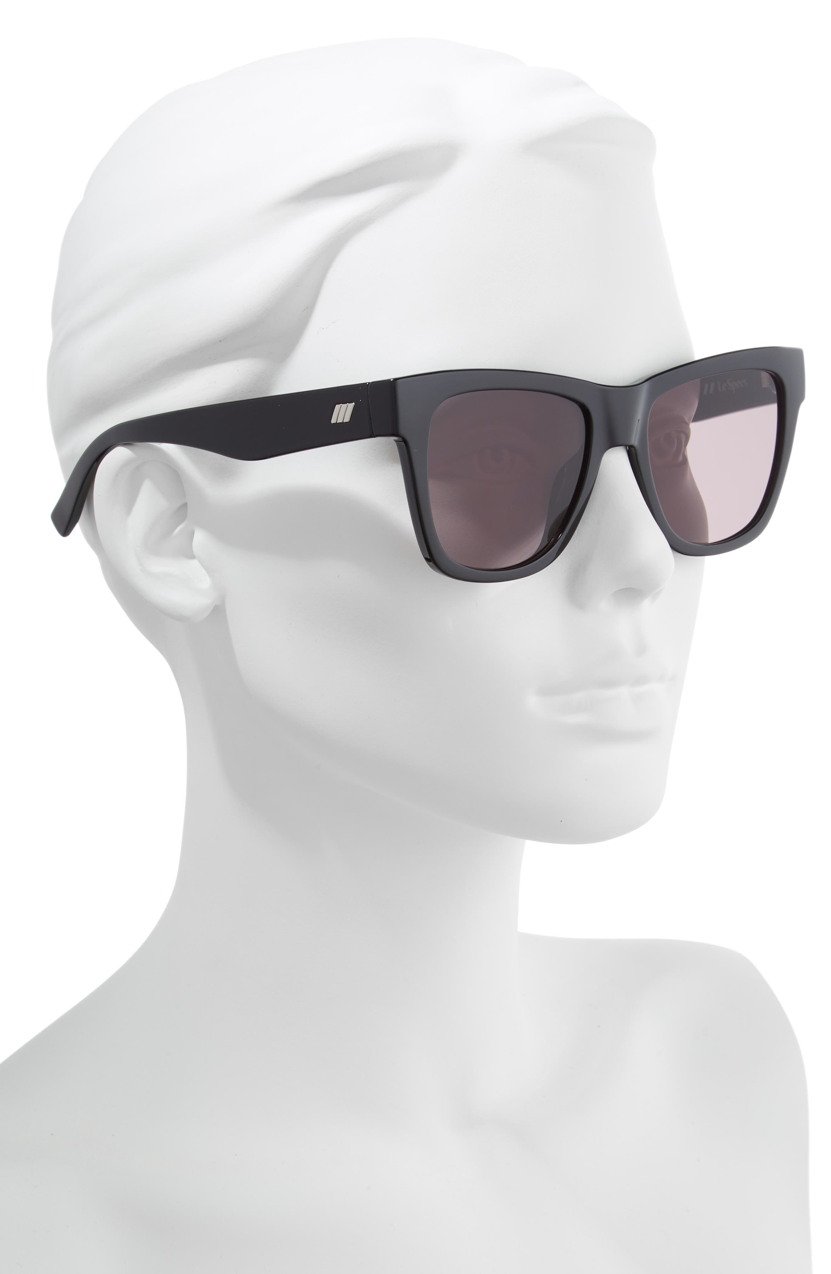 Escapade 54mm Sunglasses,                             Alternate thumbnail 2, color,                             BLACK