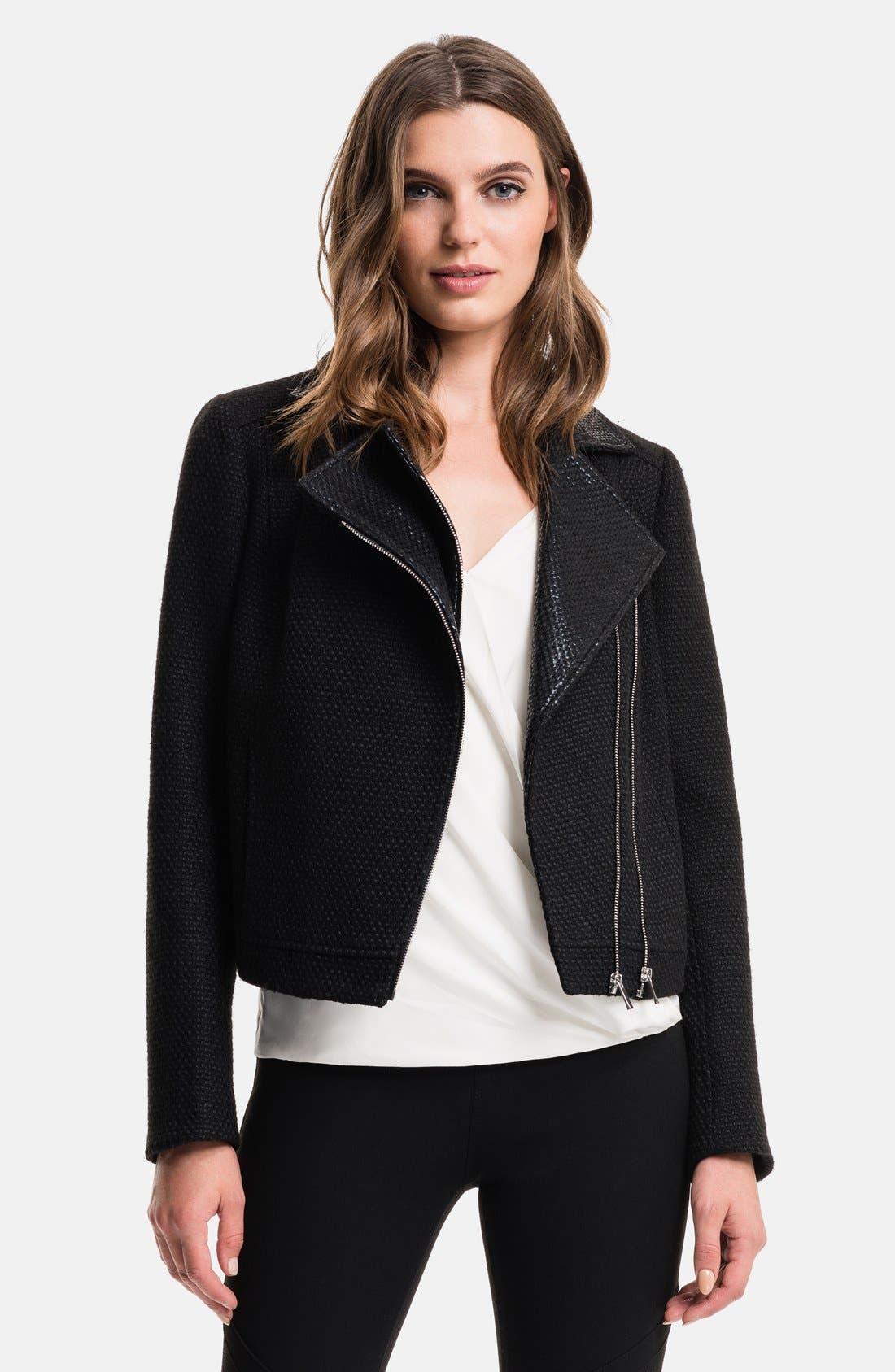 Coated Tweed Moto Jacket, Main, color, 060