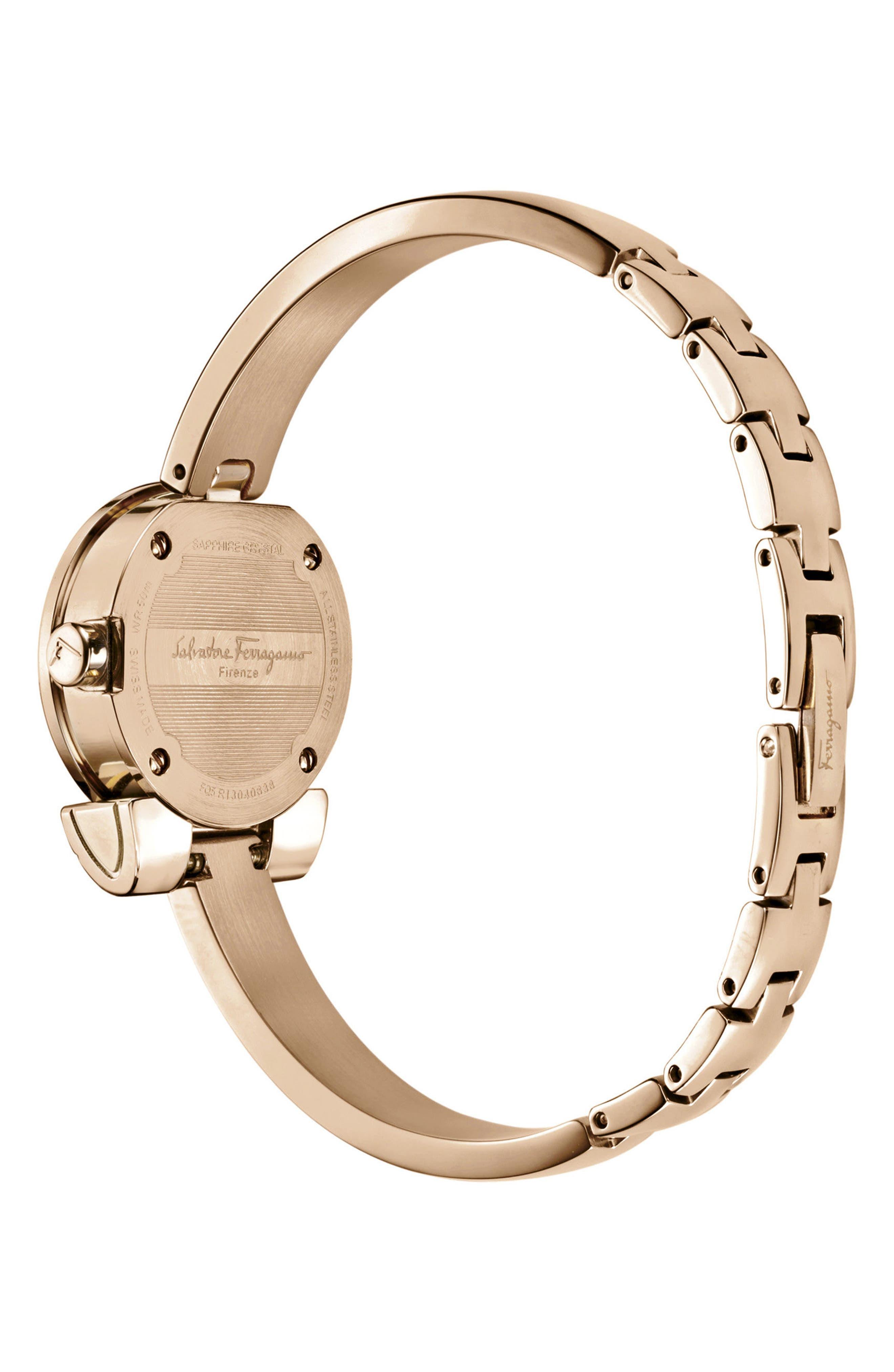 Gancino Bracelet Watch, 22.5mm,                             Alternate thumbnail 2, color,                             ROSE GOLD