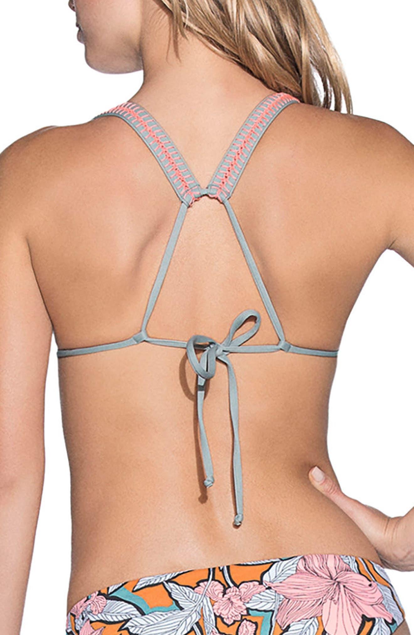 Wayuu Dance Reversible Triangle Bikini Top,                             Alternate thumbnail 2, color,                             440