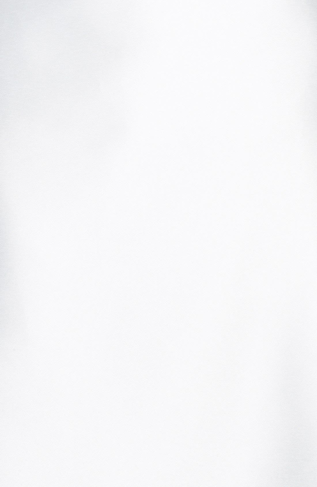 Mikado Satin Halter Fluted Dress,                             Alternate thumbnail 6, color,                             OFF WHITE
