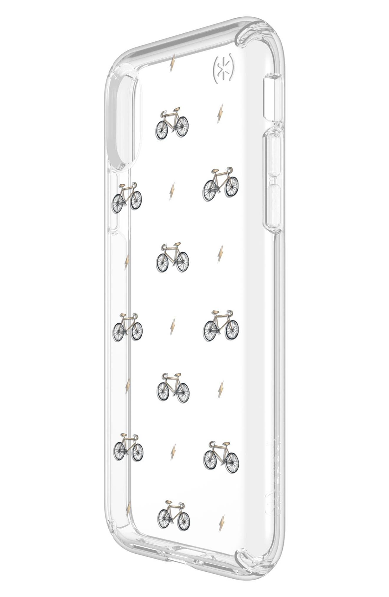 SPECK,                             Bikes & Bolts Transparent iPhone X & Xs Case,                             Alternate thumbnail 5, color,                             BIKES N BOLTS YELLOW/ CLEAR