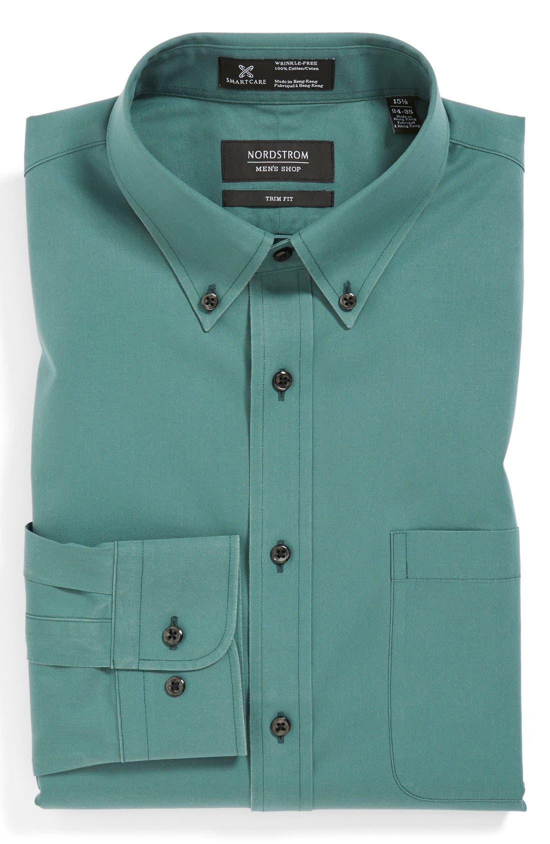Smartcare<sup>™</sup> Trim Fit Solid Dress Shirt,                             Main thumbnail 7, color,