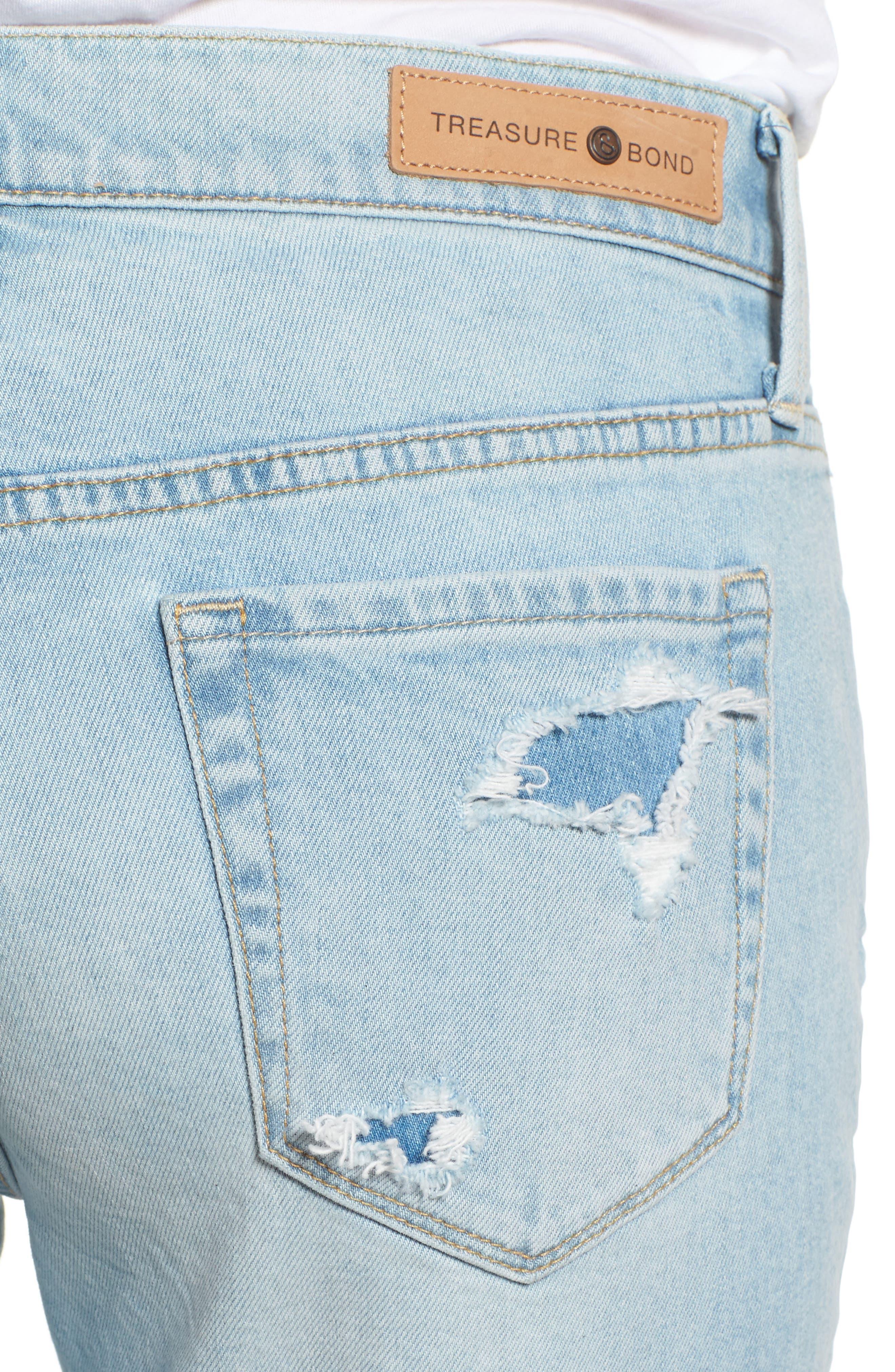 TREASURE & BOND,                             Skinny Boyfriend Jeans,                             Alternate thumbnail 4, color,                             400