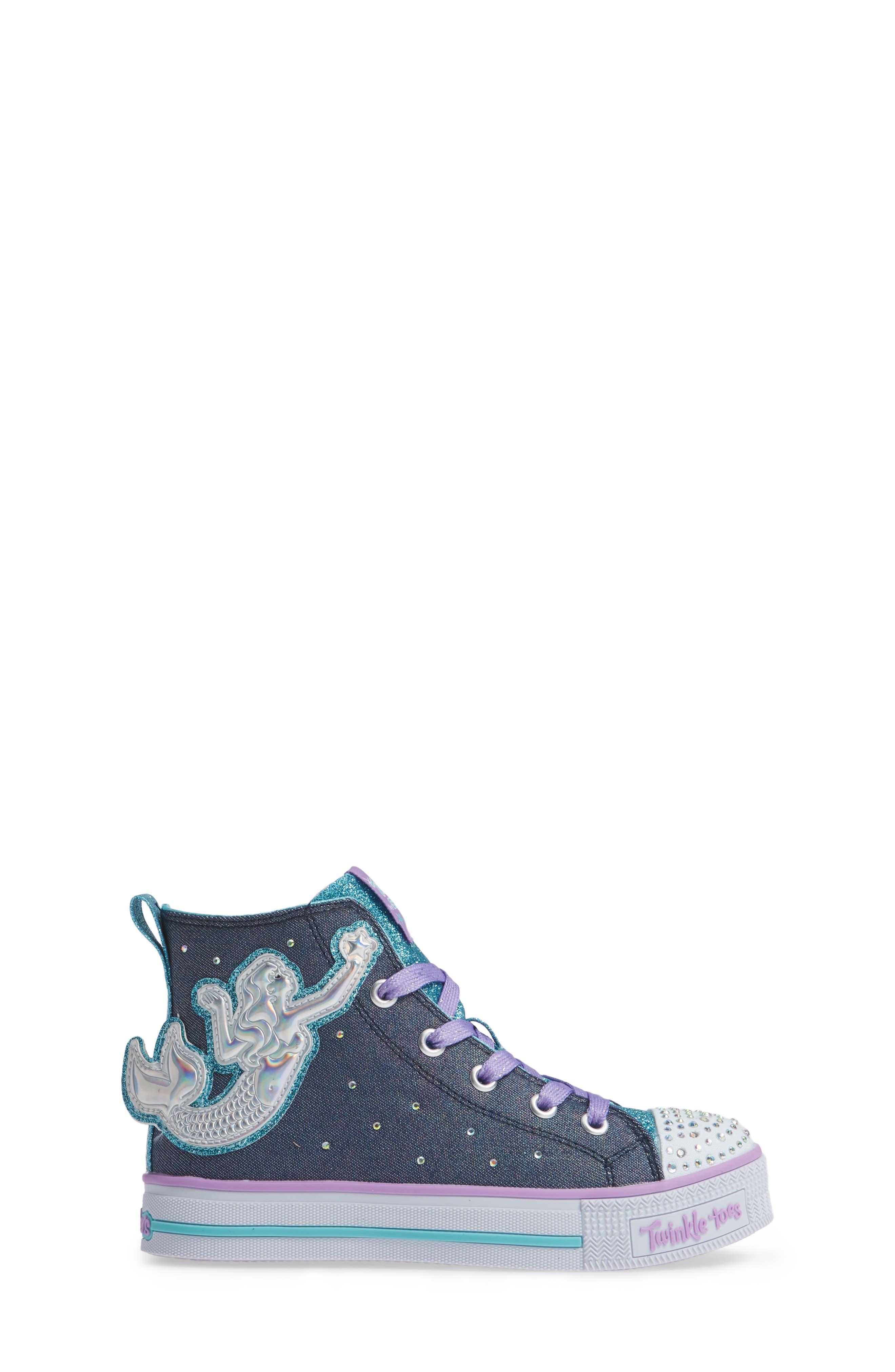 Twinkle Lite Glitter Sneaker,                             Alternate thumbnail 3, color,                             468