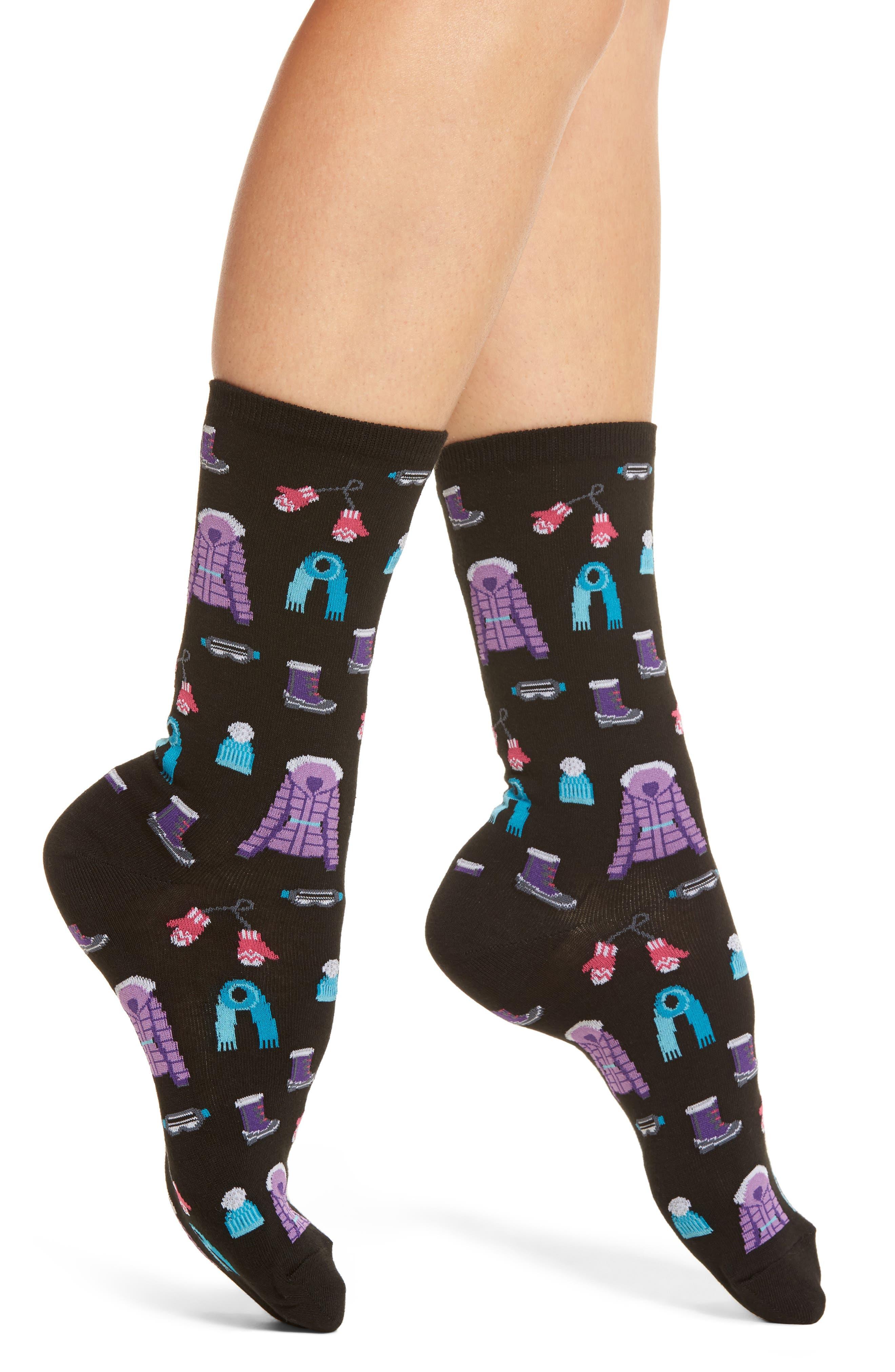 Ski Clothes Crew Socks,                             Main thumbnail 1, color,                             001