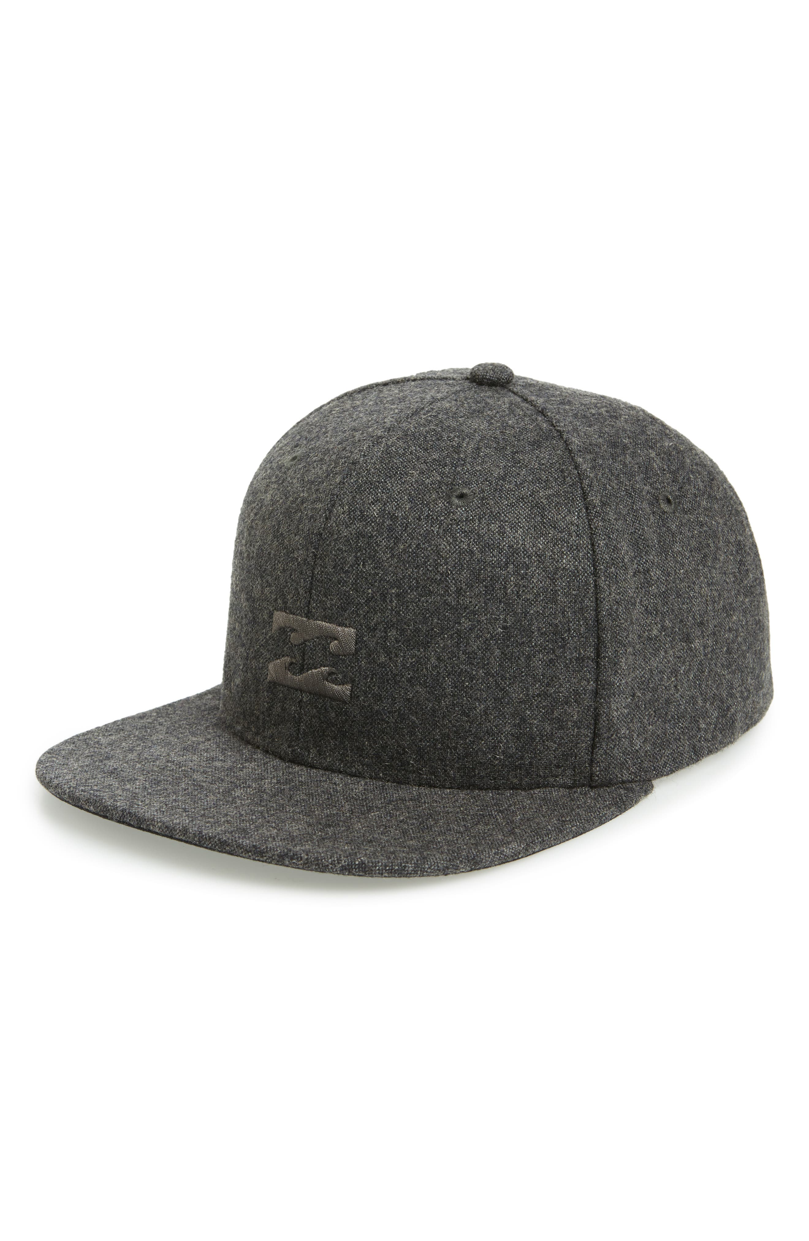 All Day Snapback Cap,                         Main,                         color, BLACK HEATHER