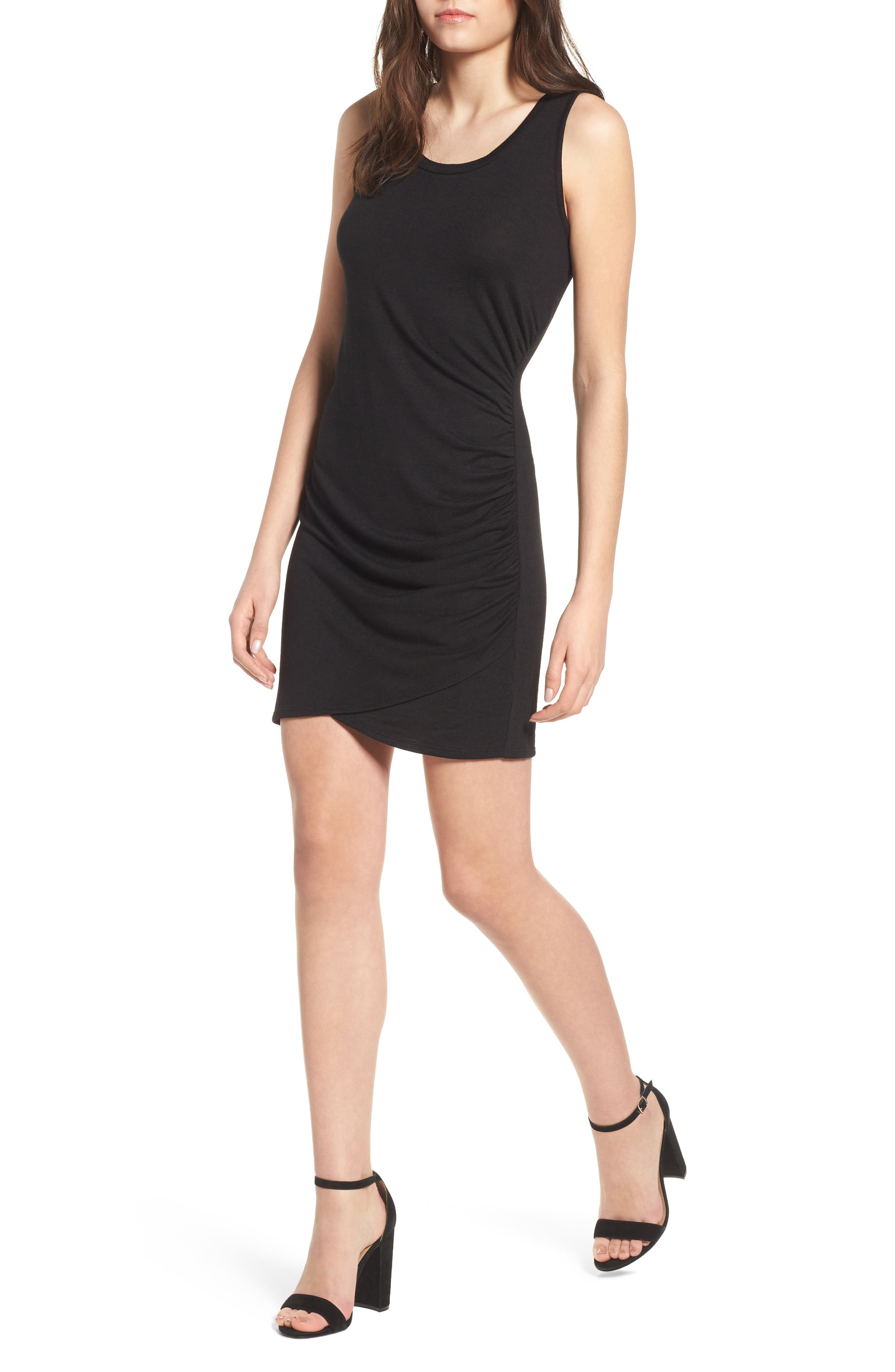Ruched Minidress,                         Main,                         color,