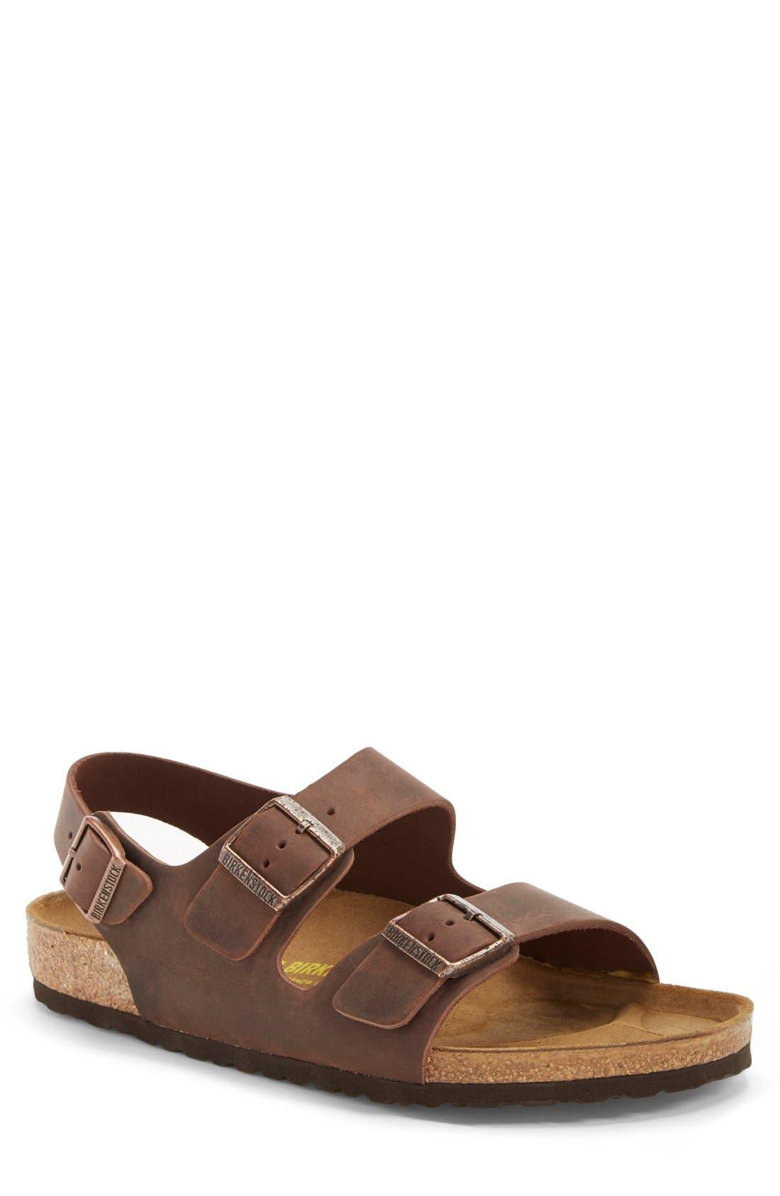 'Milano' Sandal,                             Main thumbnail 1, color,                             HABANA OILED