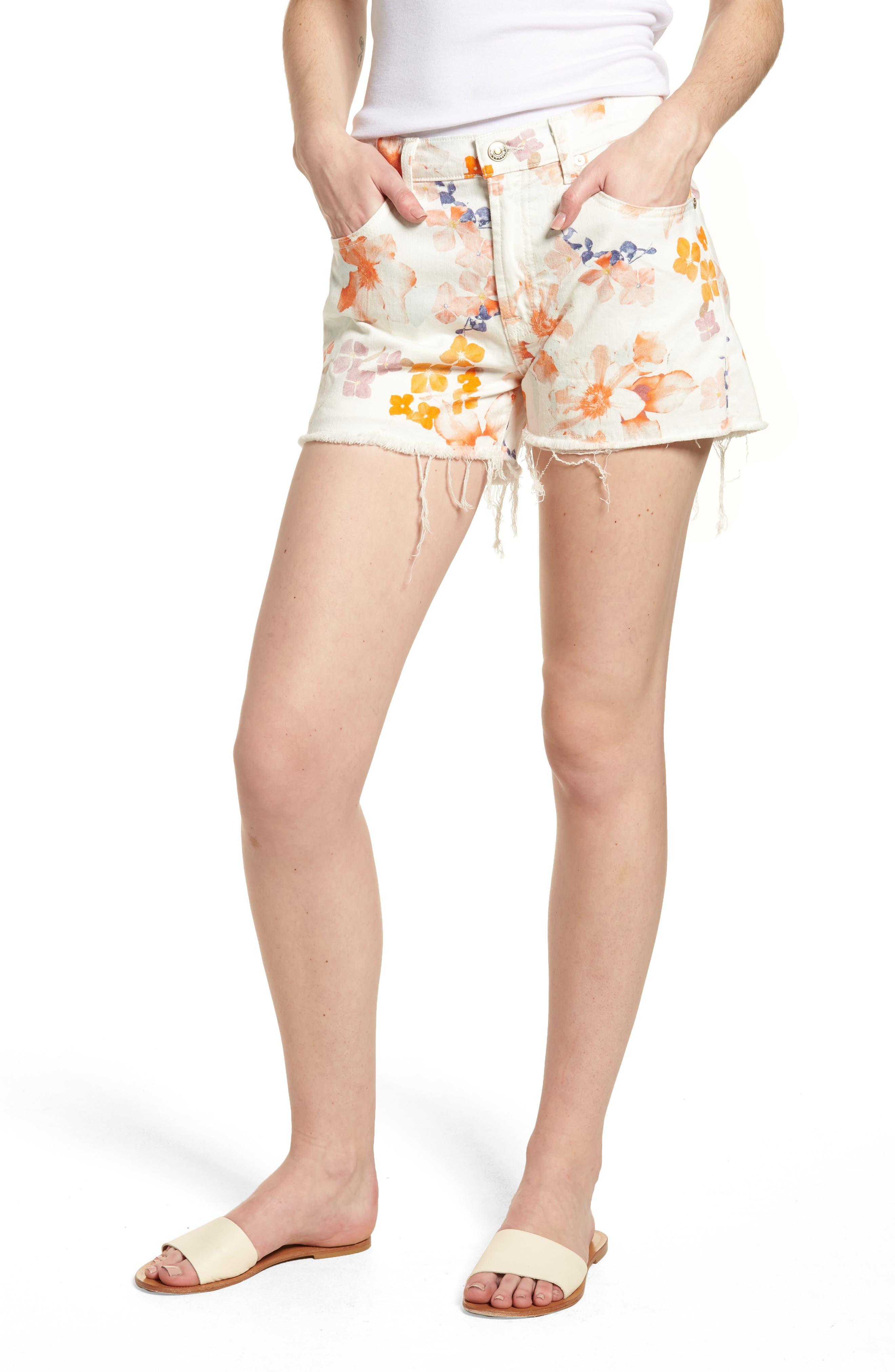 Cutoff Denim Shorts,                         Main,                         color, 651