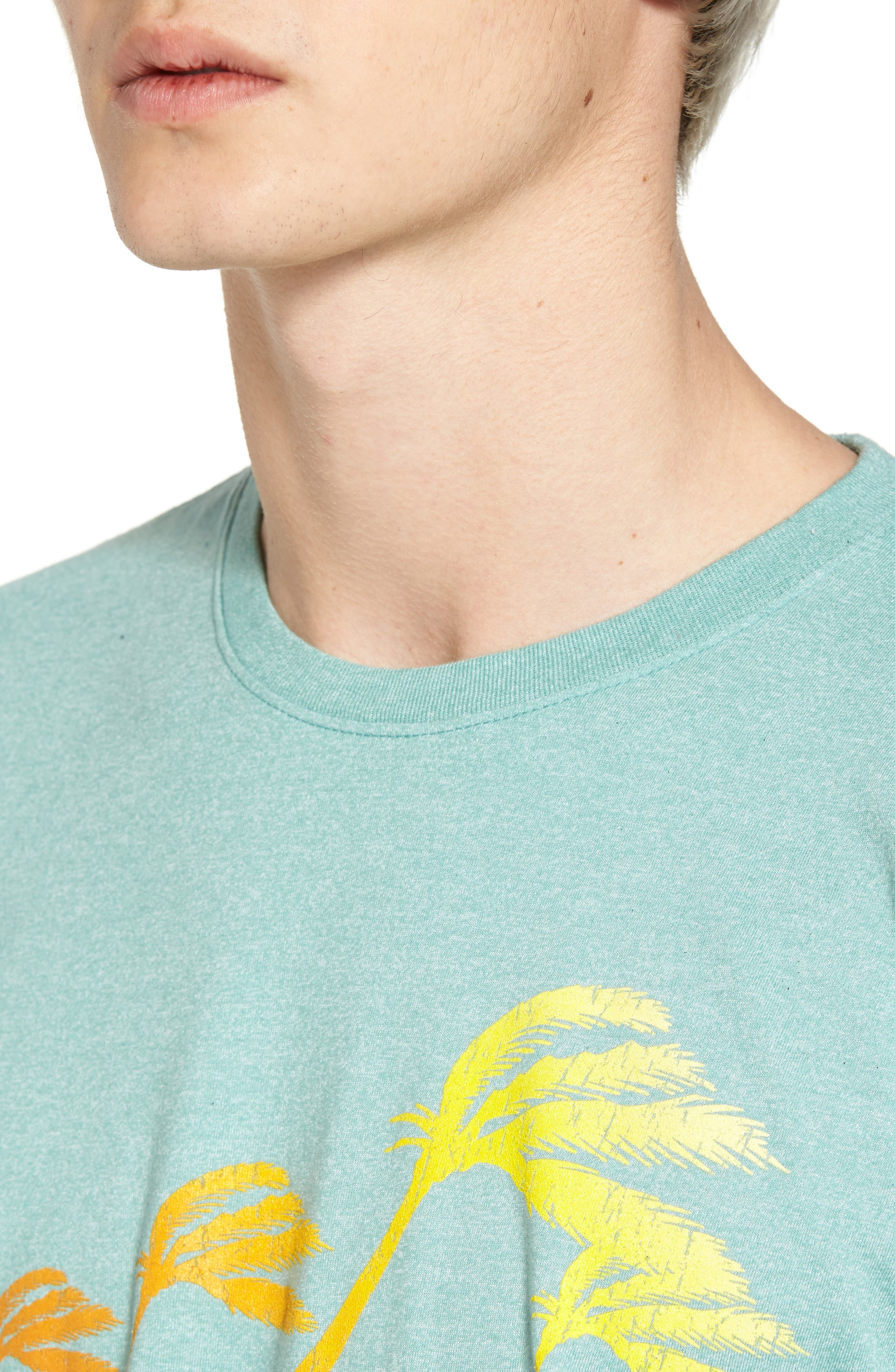 Accelerate Mock Twist T-Shirt,                             Alternate thumbnail 4, color,                             GREEN