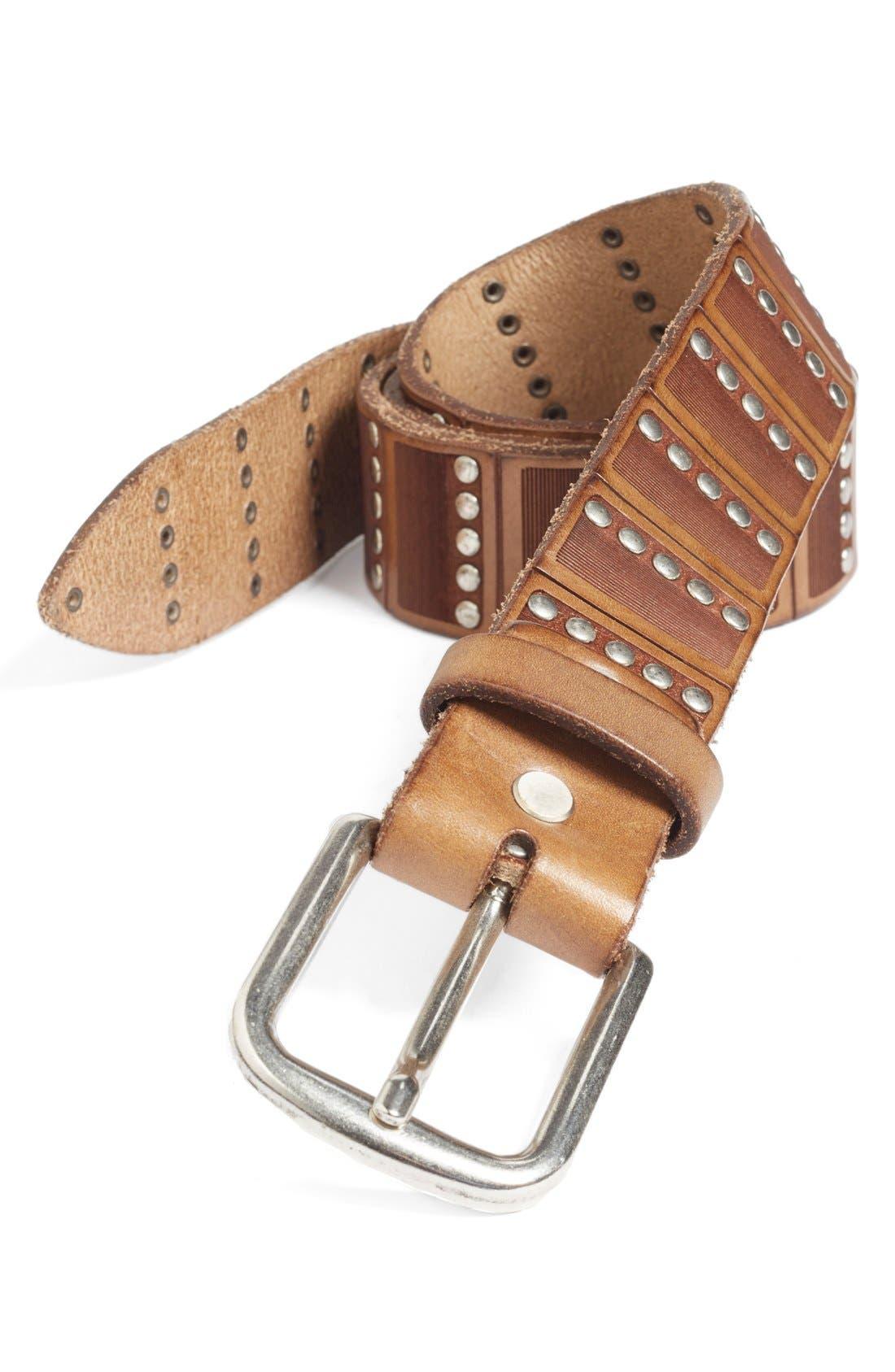'Santino' Leather Belt,                             Main thumbnail 2, color,
