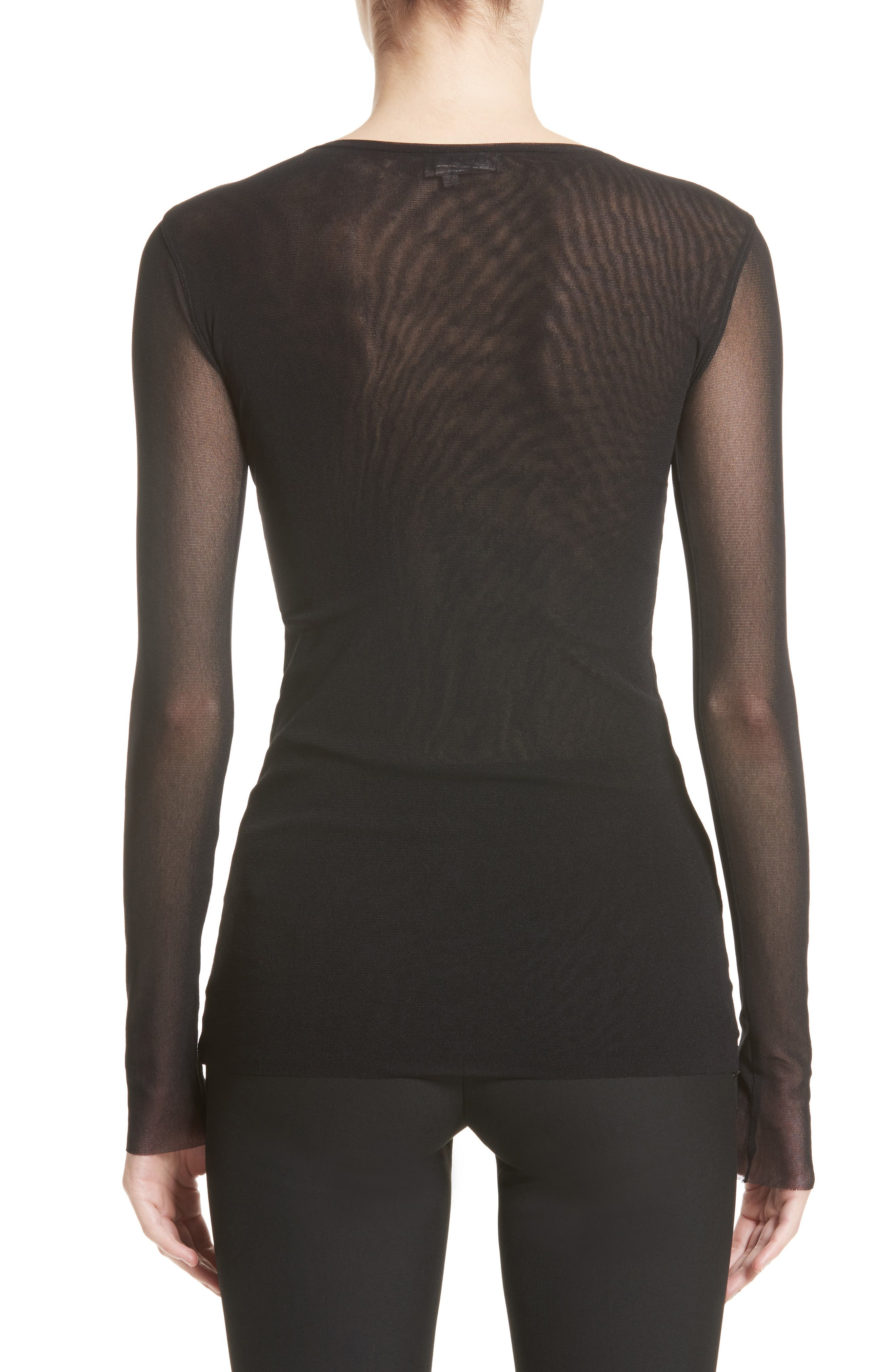 Embroidered Tulle Top,                             Alternate thumbnail 2, color,