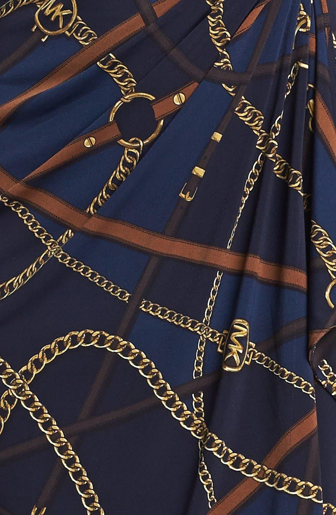 Print Faux Wrap Dress,                             Alternate thumbnail 2, color,                             452