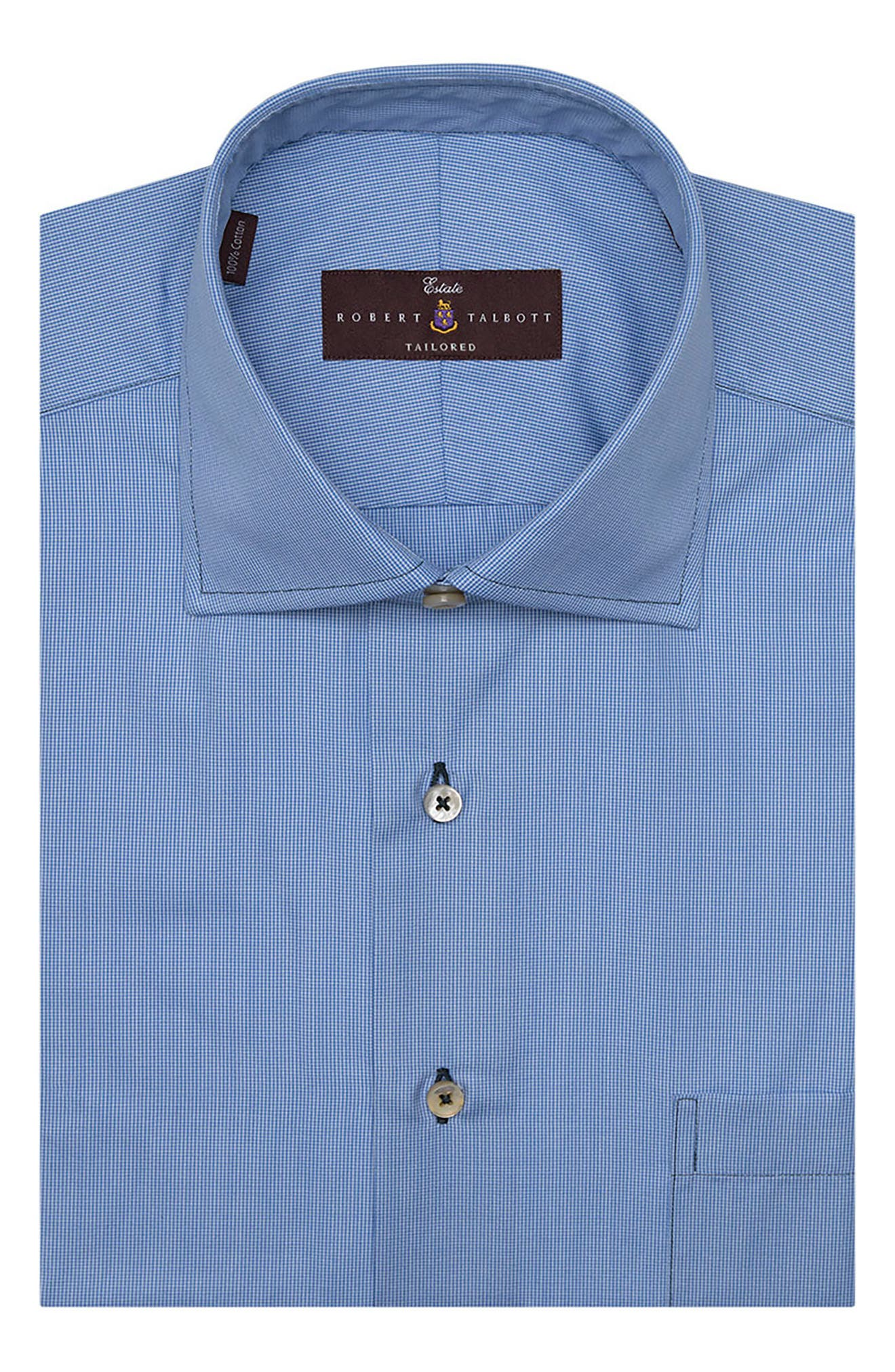 Tailored Fit Check Dress Shirt,                             Alternate thumbnail 2, color,                             478