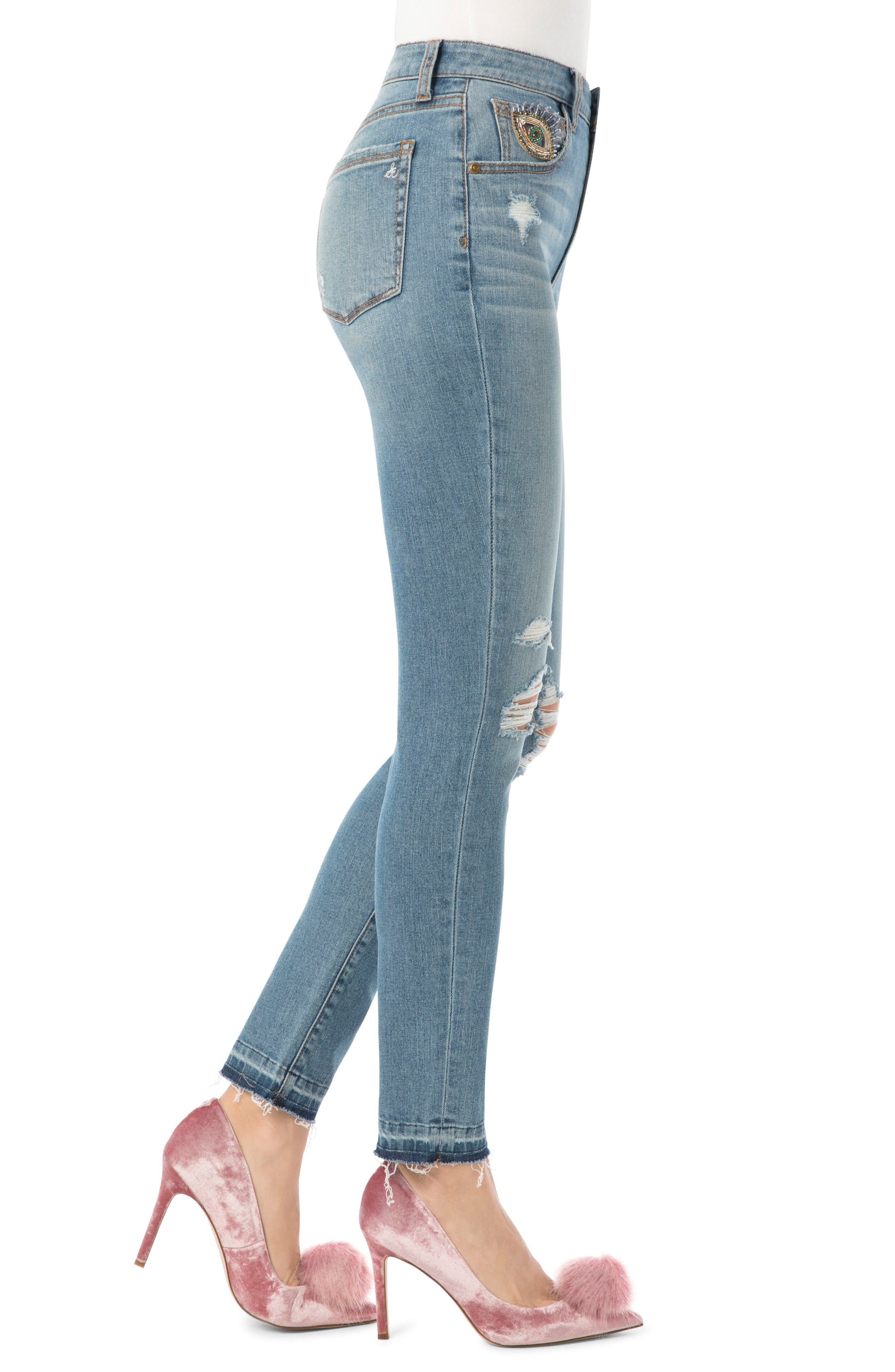 The Stiletto High Rise Skinny Jean,                             Alternate thumbnail 3, color,                             415