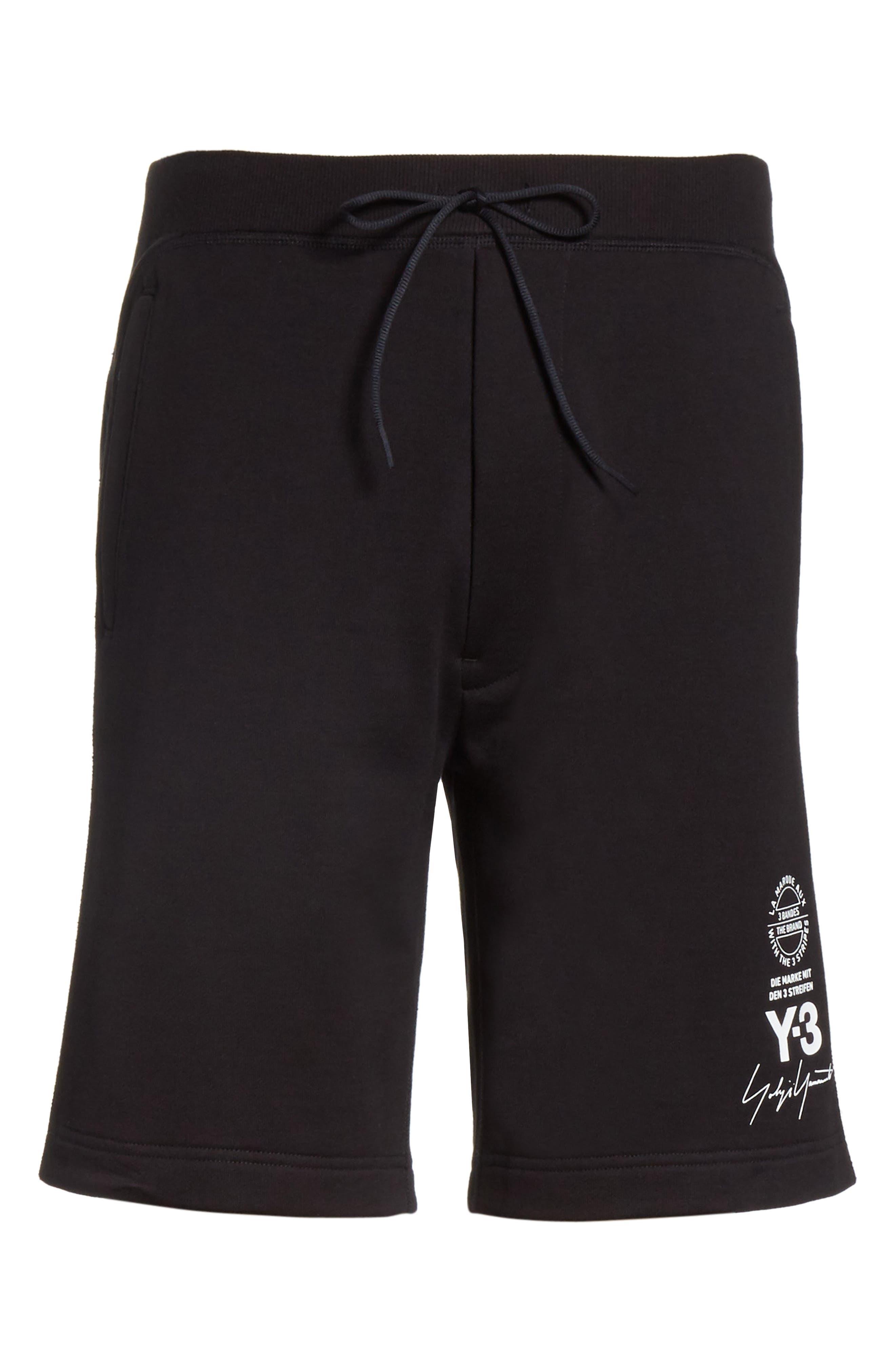 x adidas Track Shorts,                             Alternate thumbnail 6, color,                             001