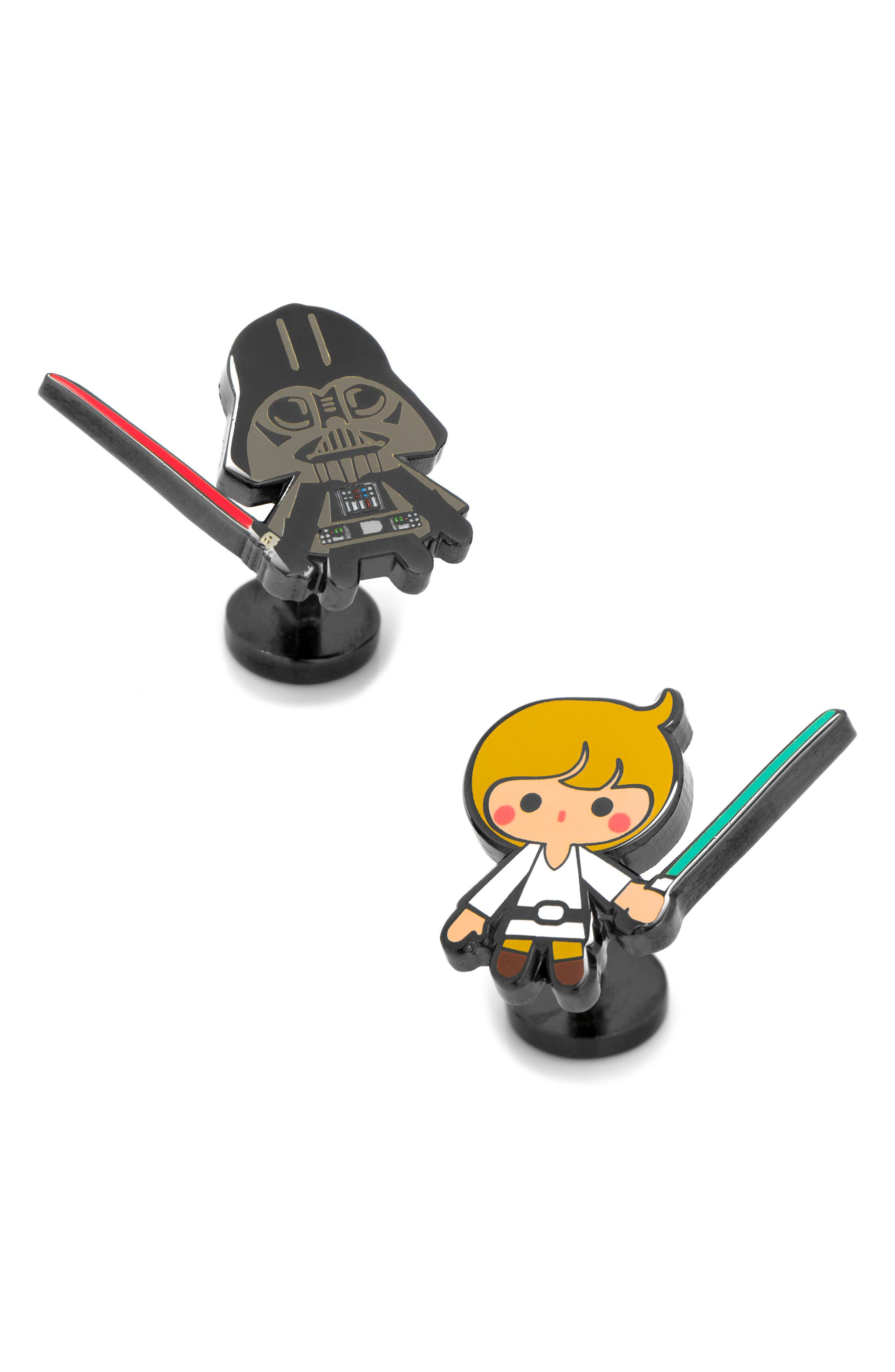 Luke & Darth Vader Cuff Links,                         Main,                         color, 100