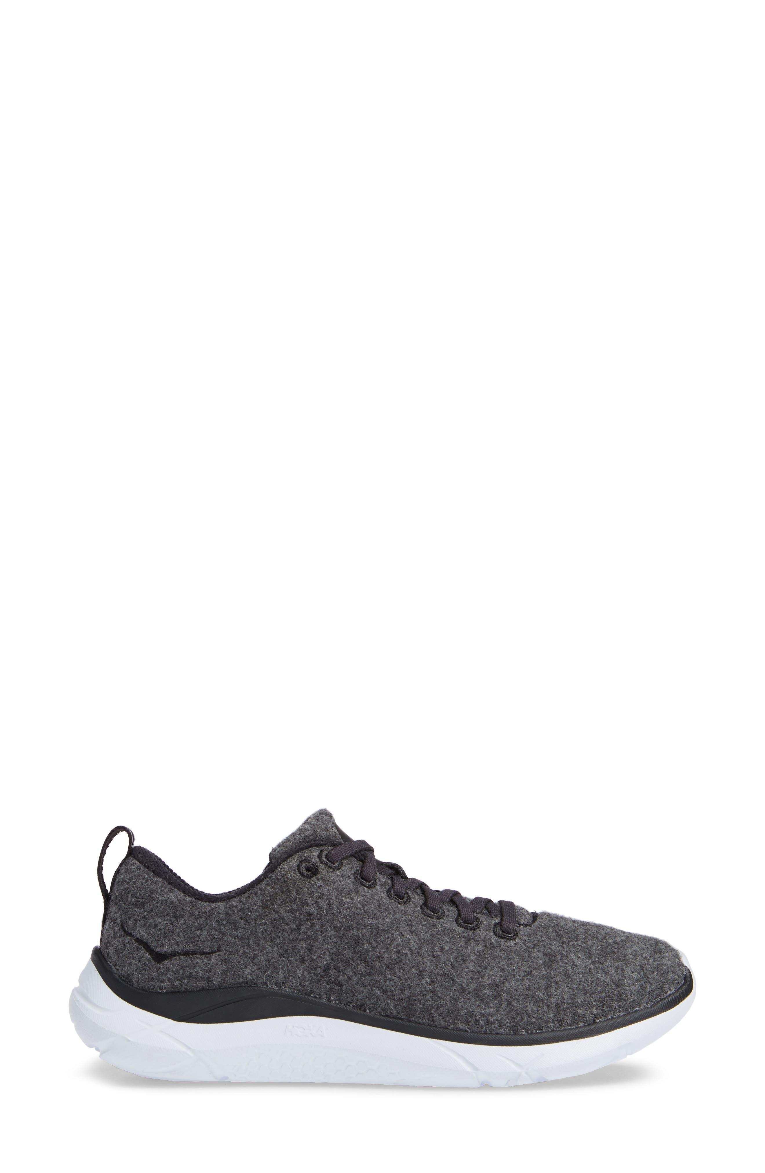 HOKA ONE ONE,                              Hupana Wool Sneaker,                             Alternate thumbnail 3, color,                             023