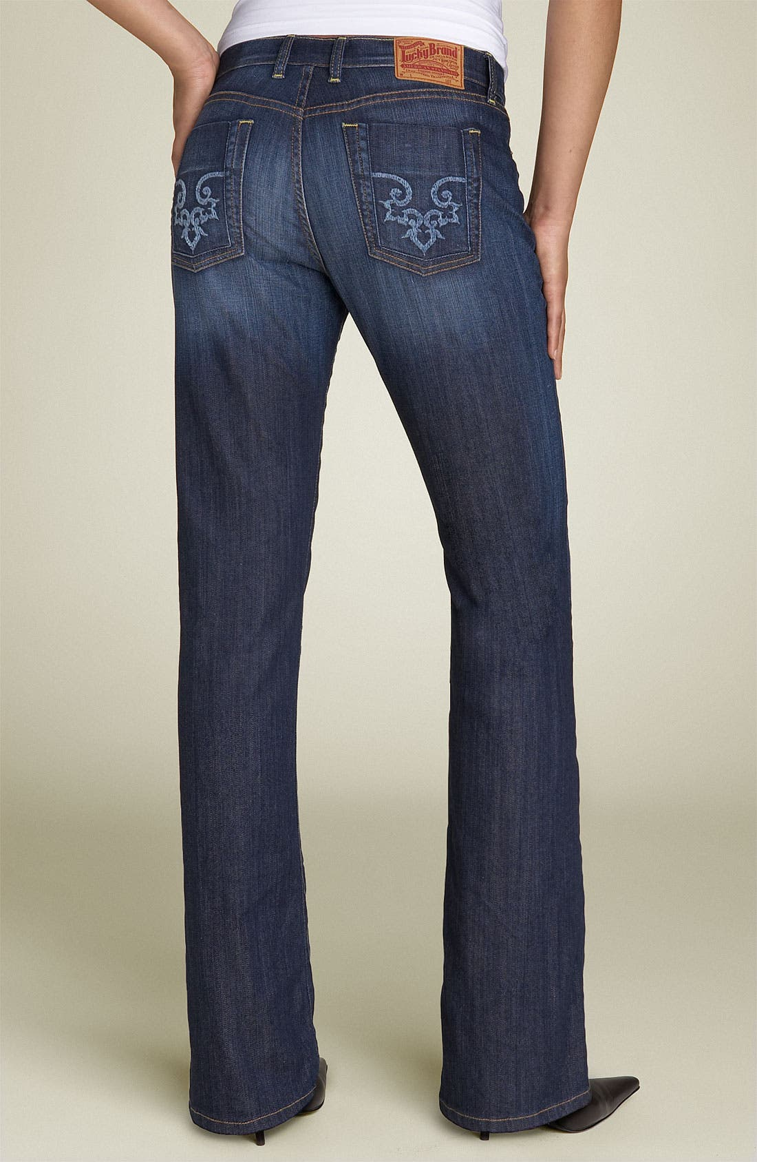 LUCKY BRAND 'Delaware Classic Rider' Stretch Jeans, Main, color, 460