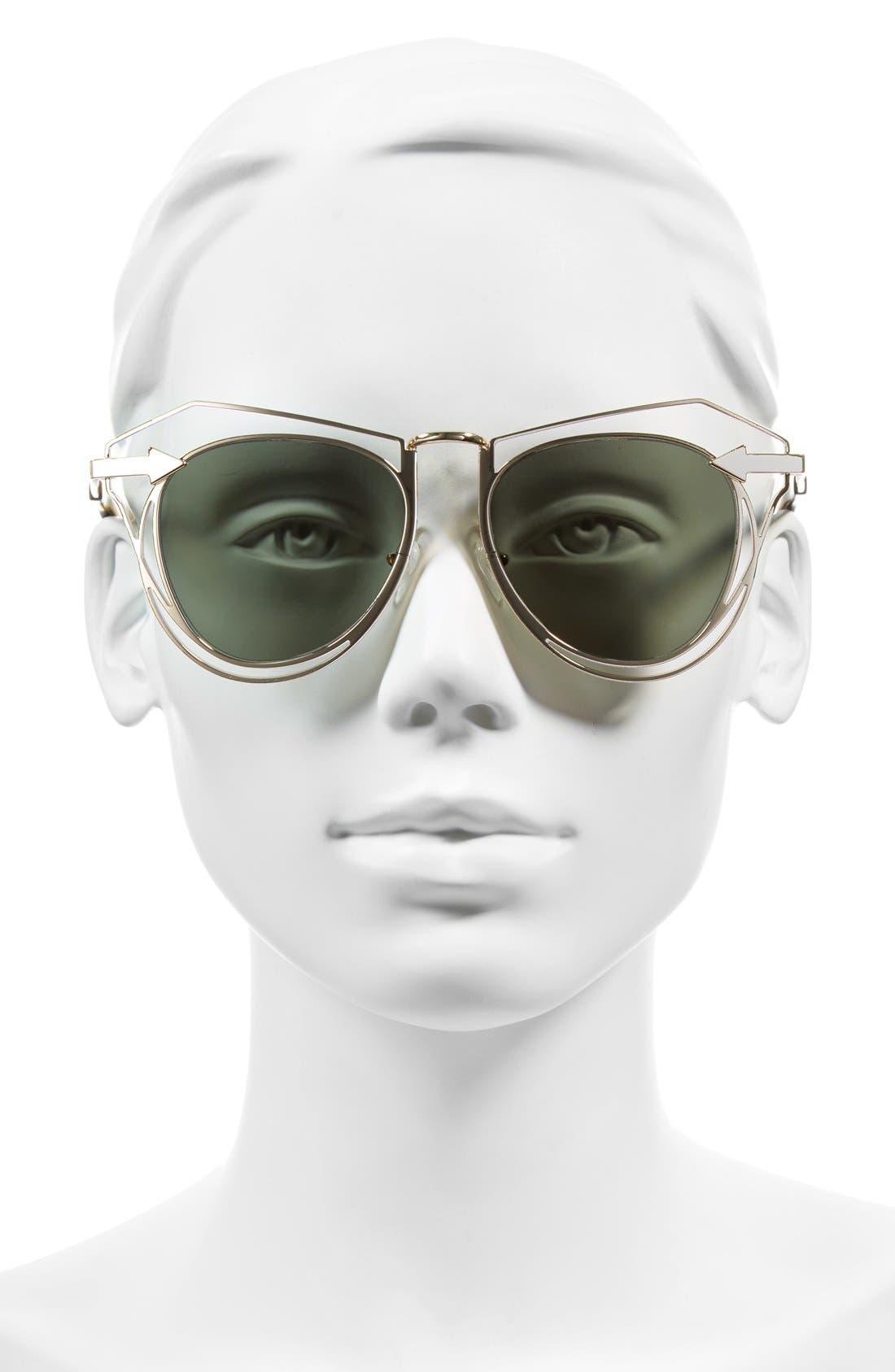 'Marguerite' 52mm Sunglasses,                             Alternate thumbnail 2, color,                             GOLD/ TORTOISE