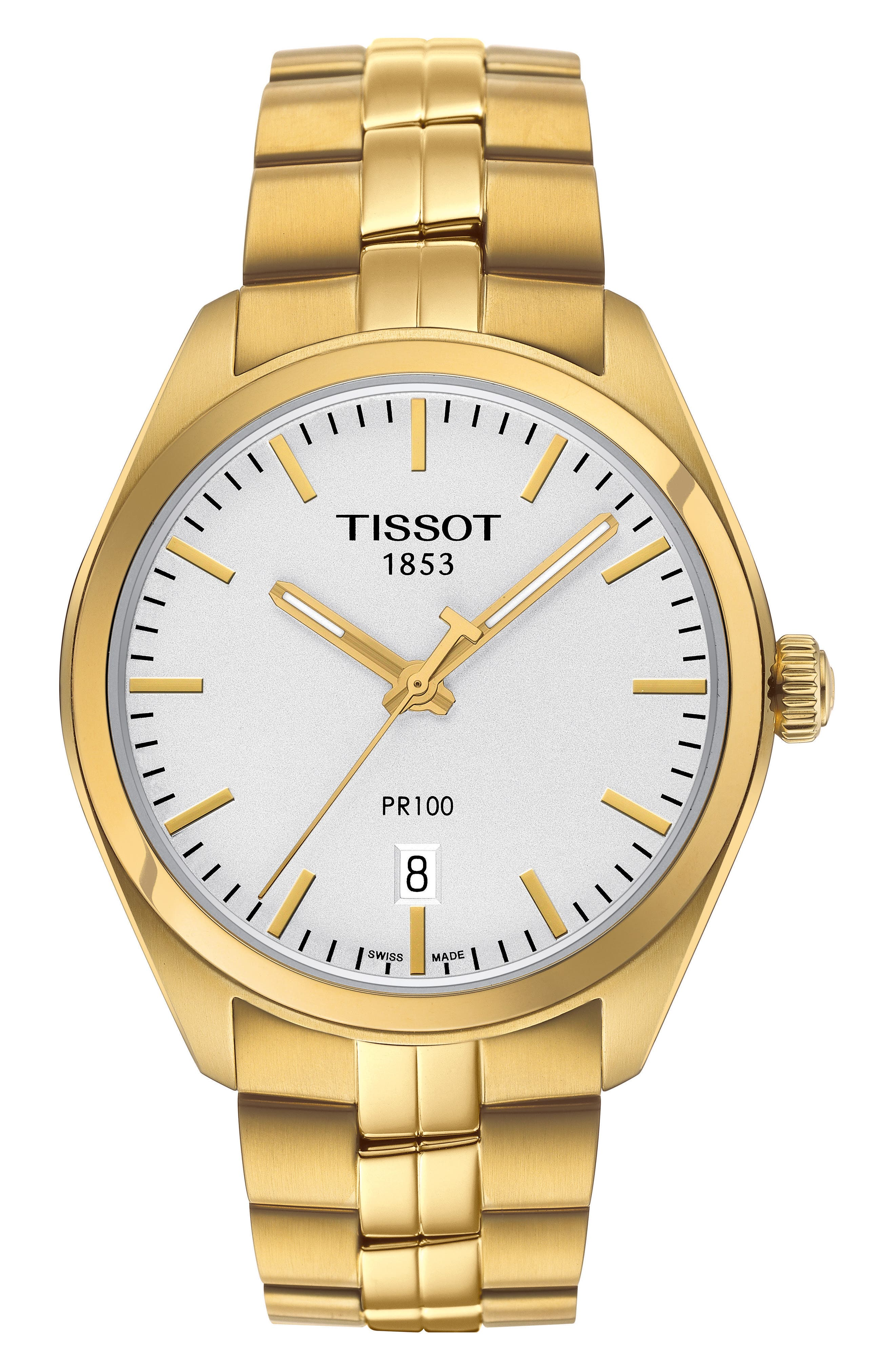 PR100 Bracelet Watch, 39mm,                         Main,                         color, GOLD/ SILVER/ GOLD