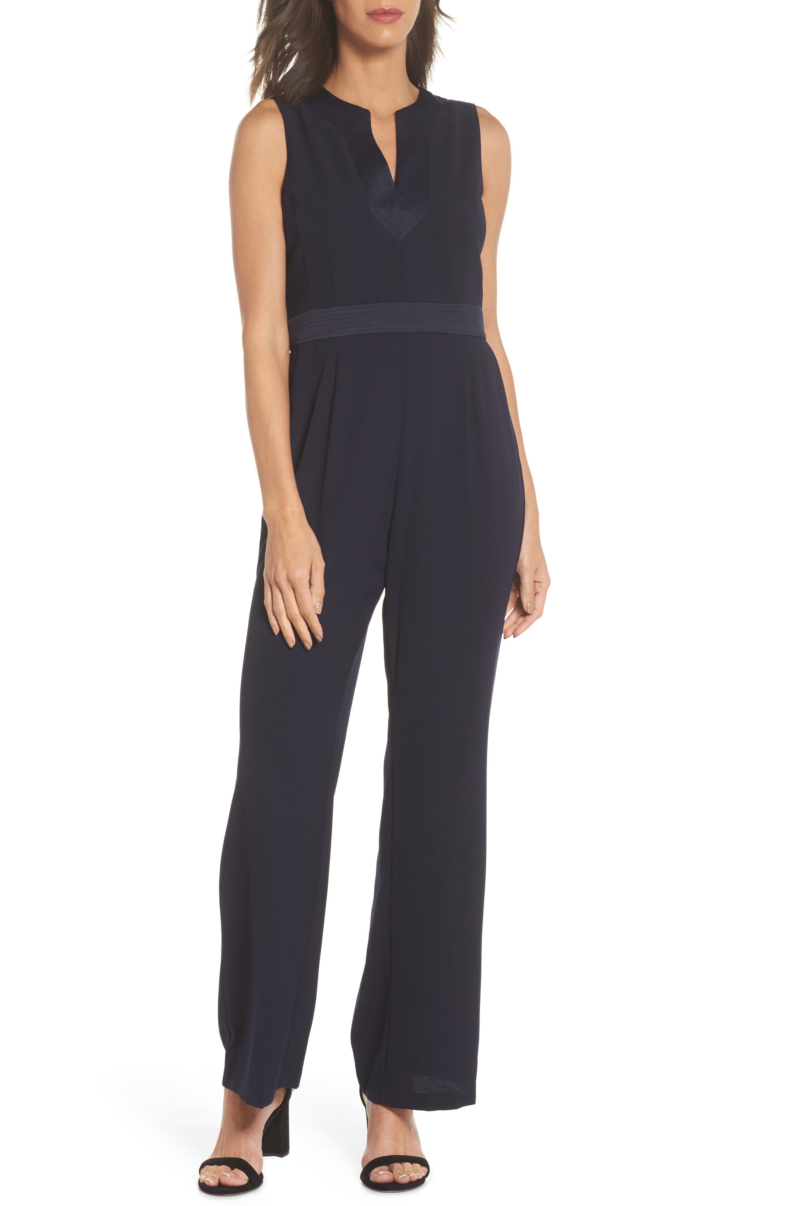 Sleeveless Jumpsuit,                         Main,                         color, 410