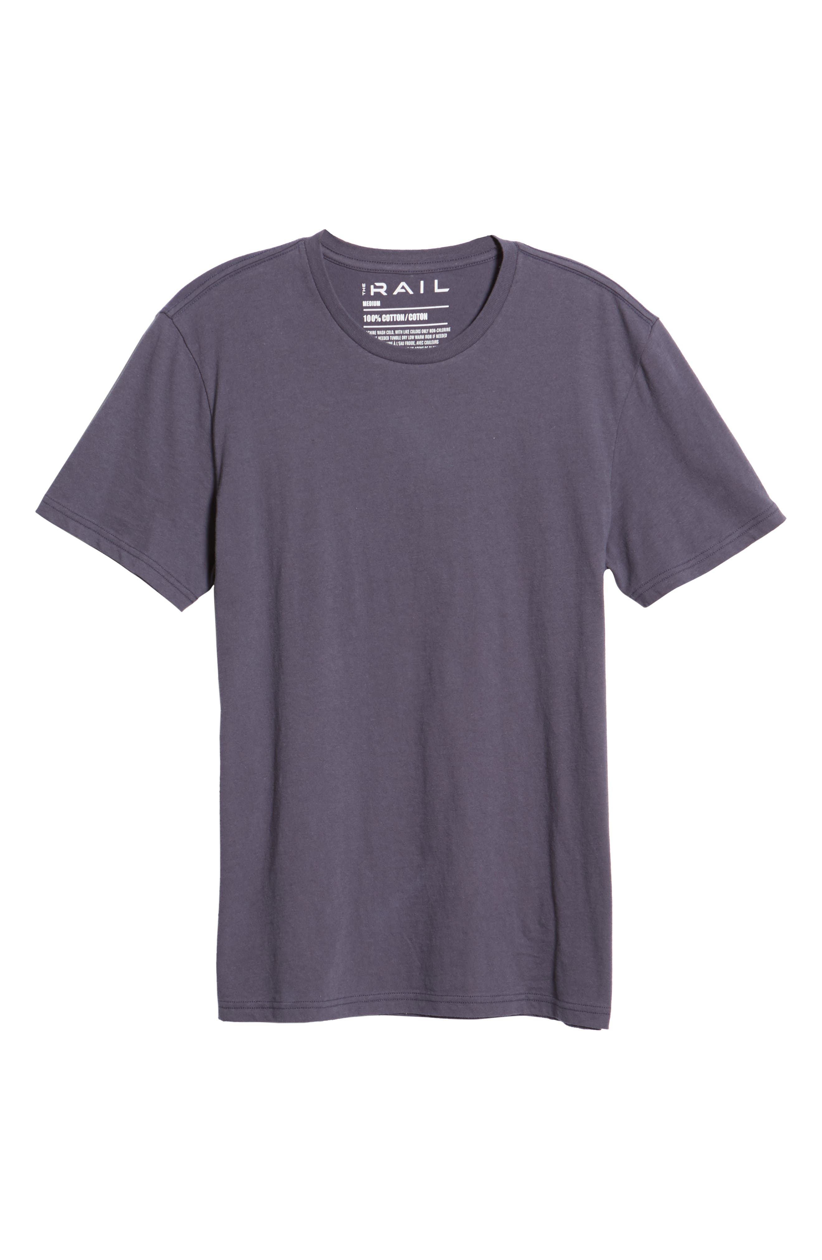 Slim Fit Crewneck T-Shirt,                             Alternate thumbnail 6, color,                             GREY STONE