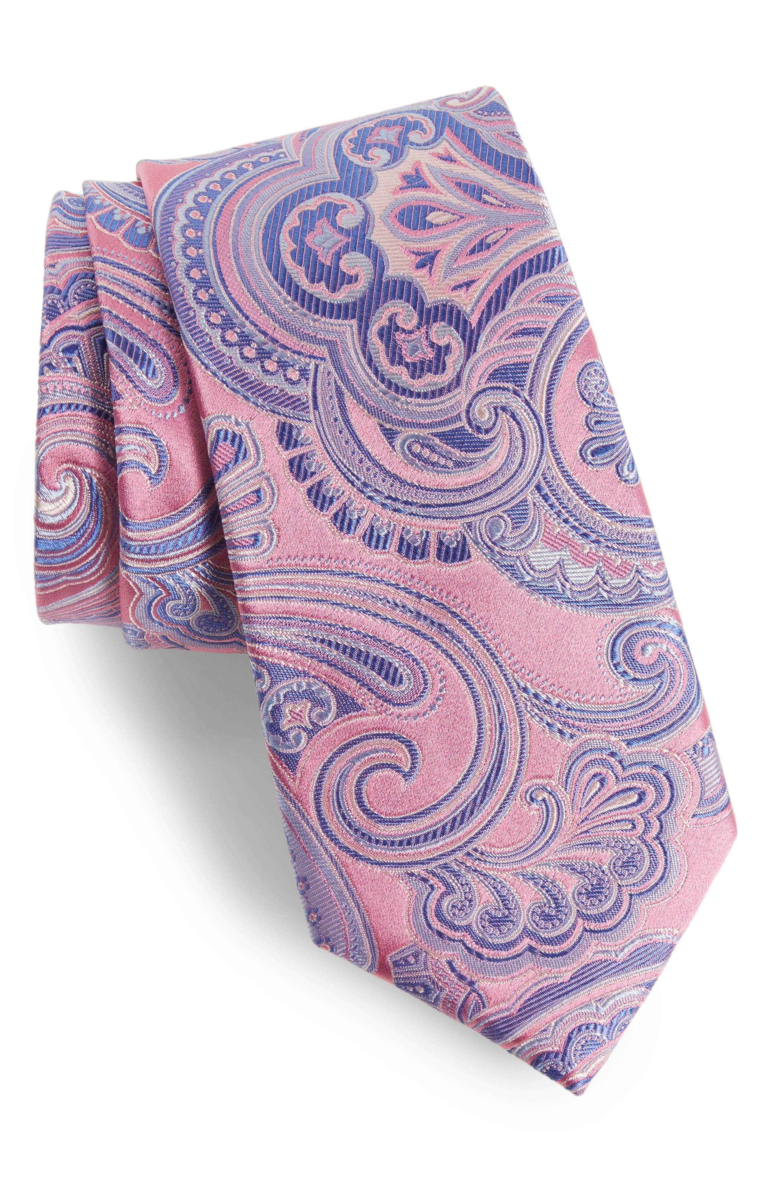 Paisley Silk Tie,                             Main thumbnail 5, color,