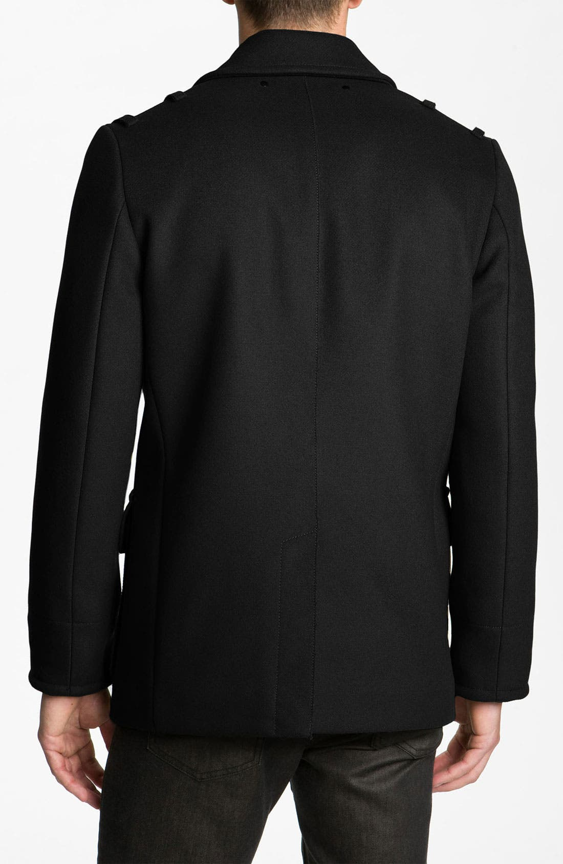 'Leo' Double Breasted Peacoat,                             Alternate thumbnail 2, color,                             001