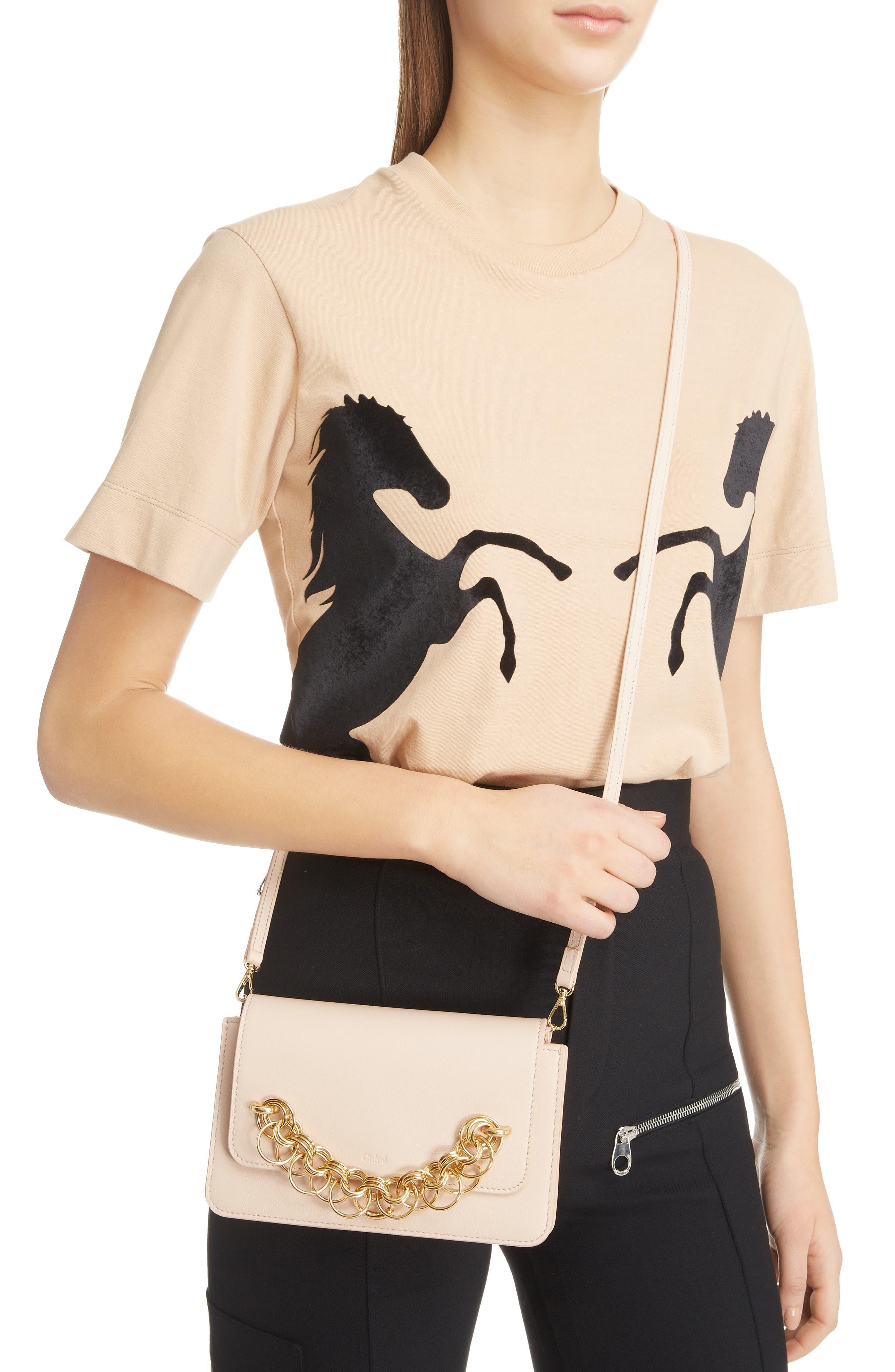 Drew Bijoux Leather Crossbody Bag,                             Alternate thumbnail 2, color,                             CEMENT PINK