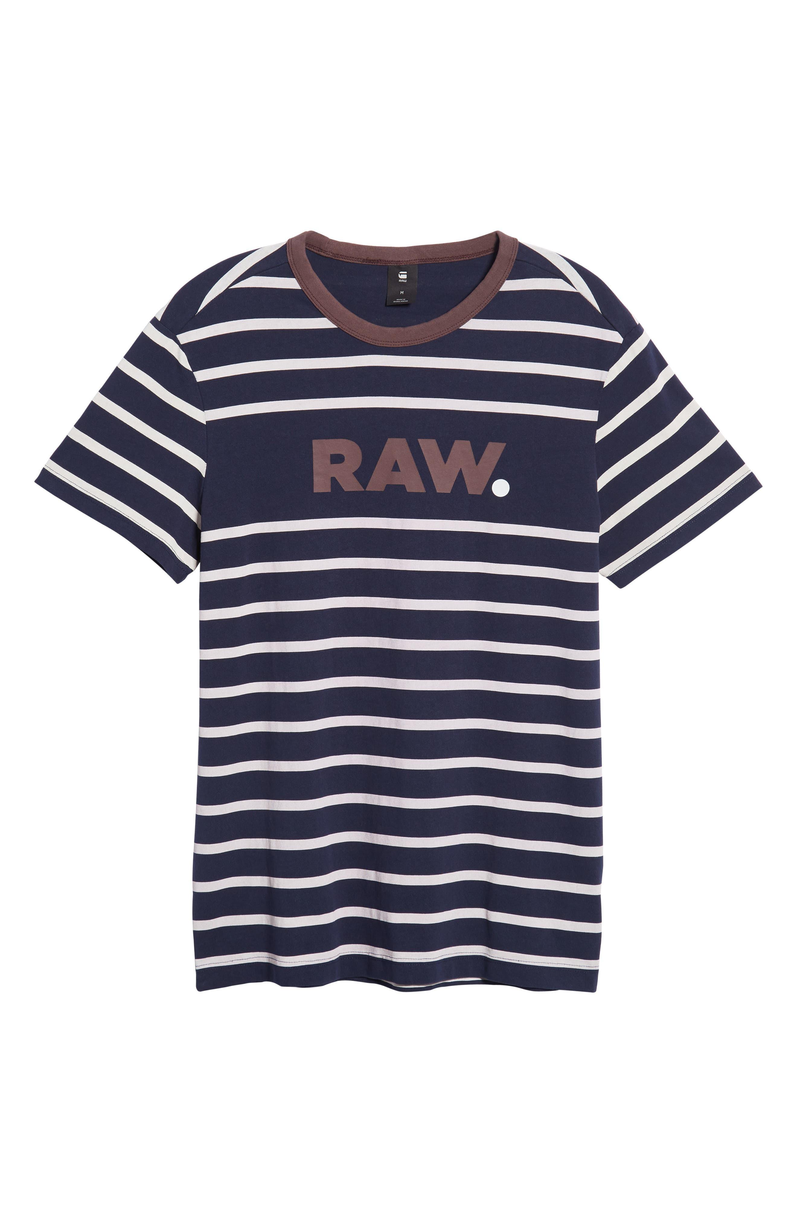 Mow Stripe Logo T-Shirt,                             Alternate thumbnail 6, color,                             SARTHO BLUE/ WHITE