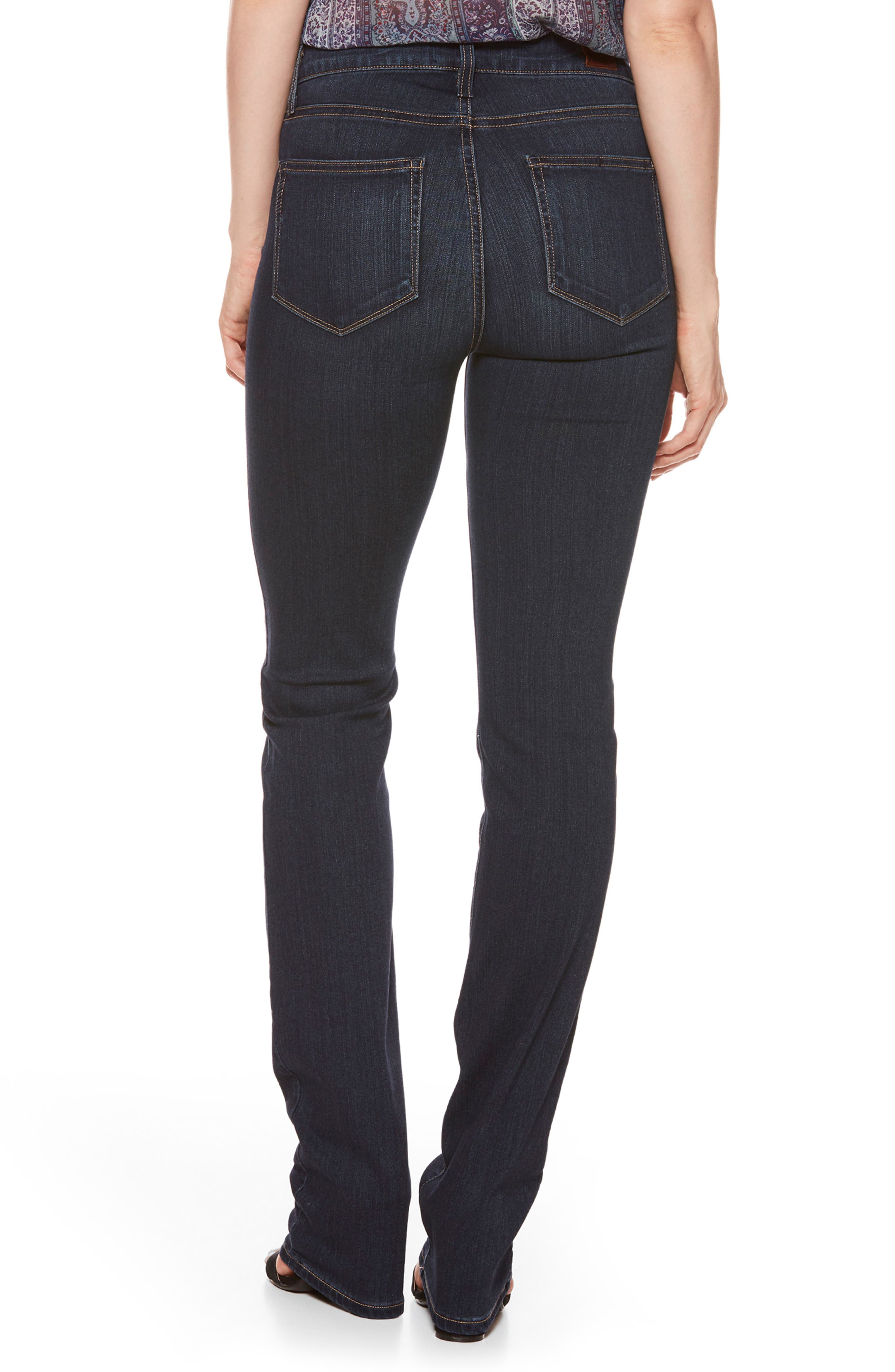 'Transcend - Hoxton' High Rise Straight Leg Jeans,                             Alternate thumbnail 2, color,                             400