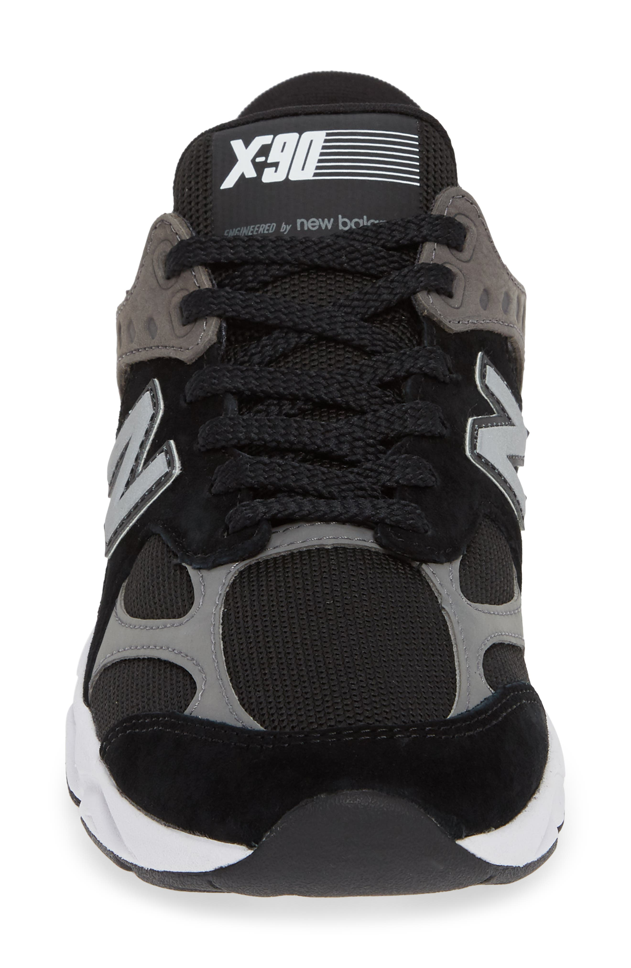 X-90 Sneaker,                             Alternate thumbnail 4, color,                             BLACK