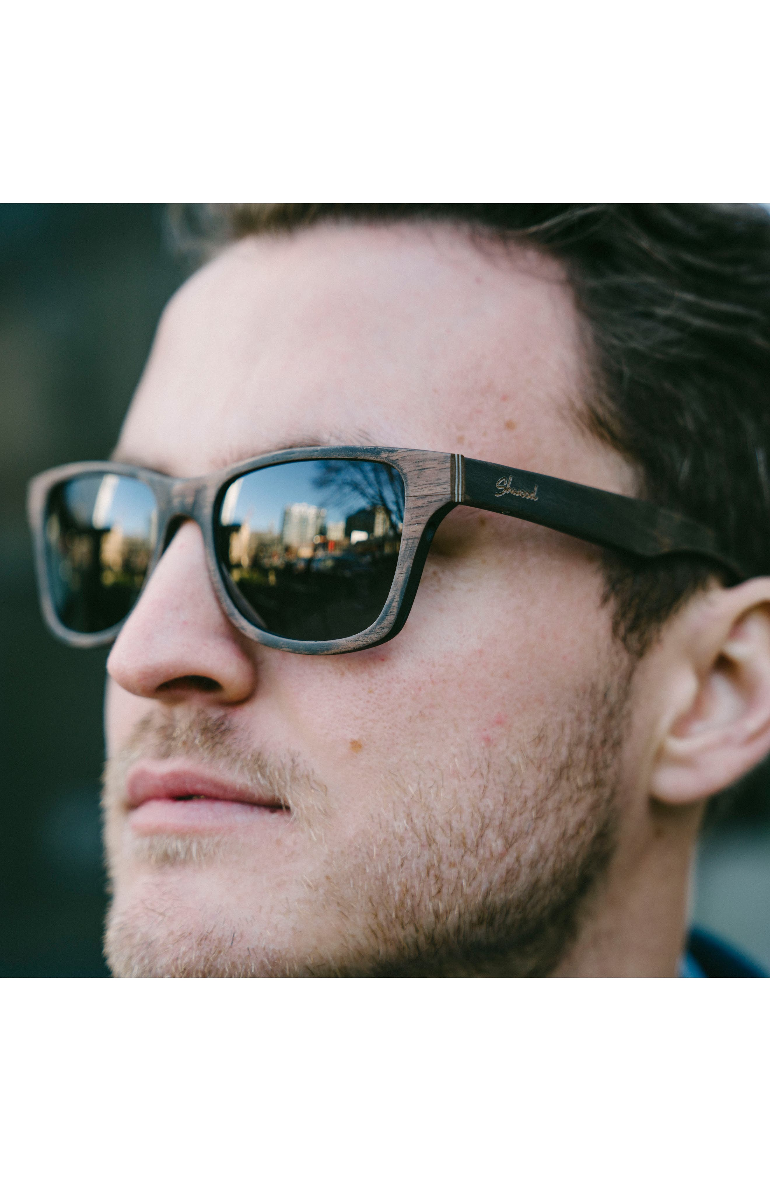 'Canby' 54mm Wood Sunglasses,                             Alternate thumbnail 5, color,