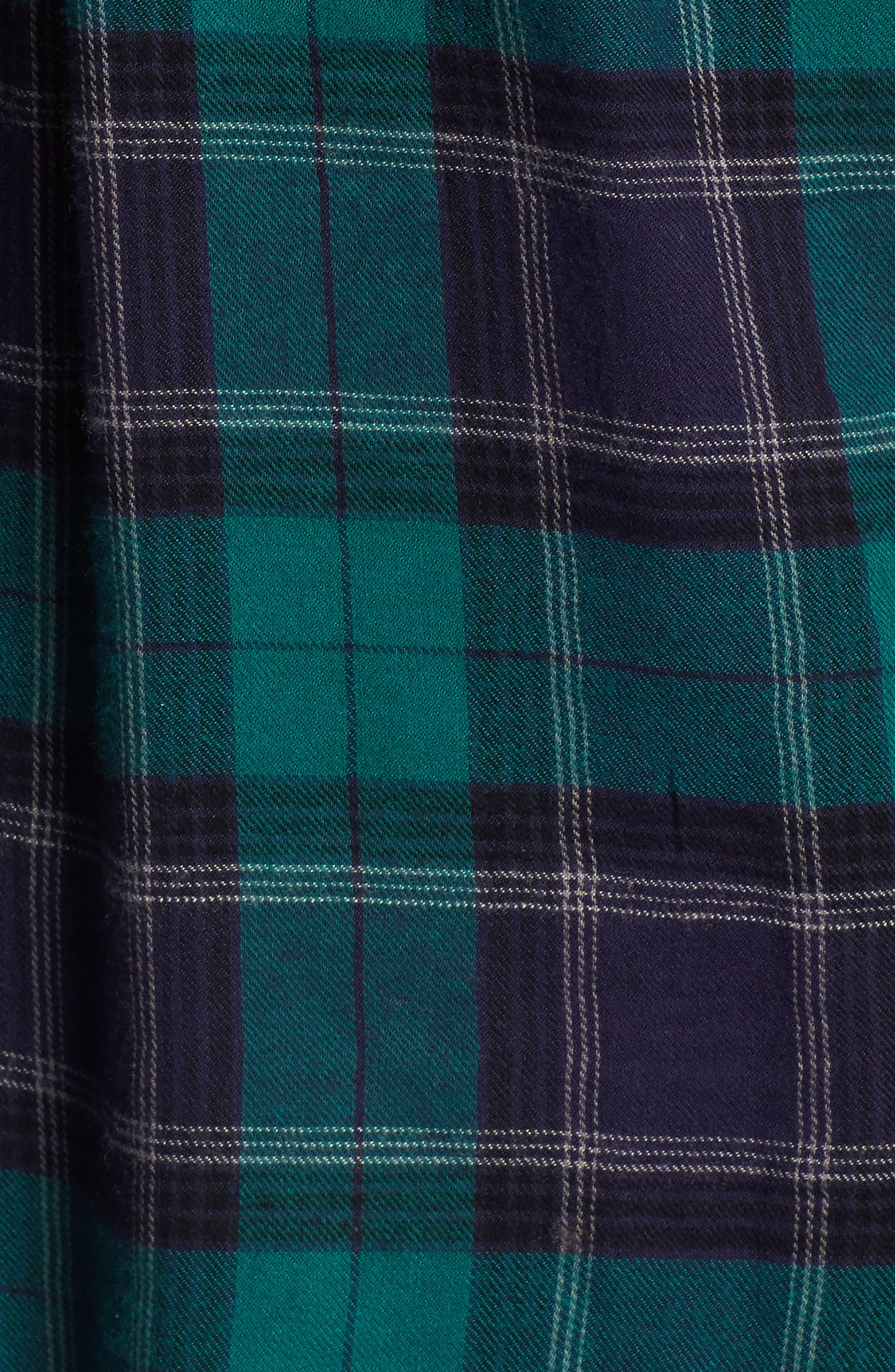 Plaid Cotton Blend Shirt,                             Alternate thumbnail 5, color,                             301