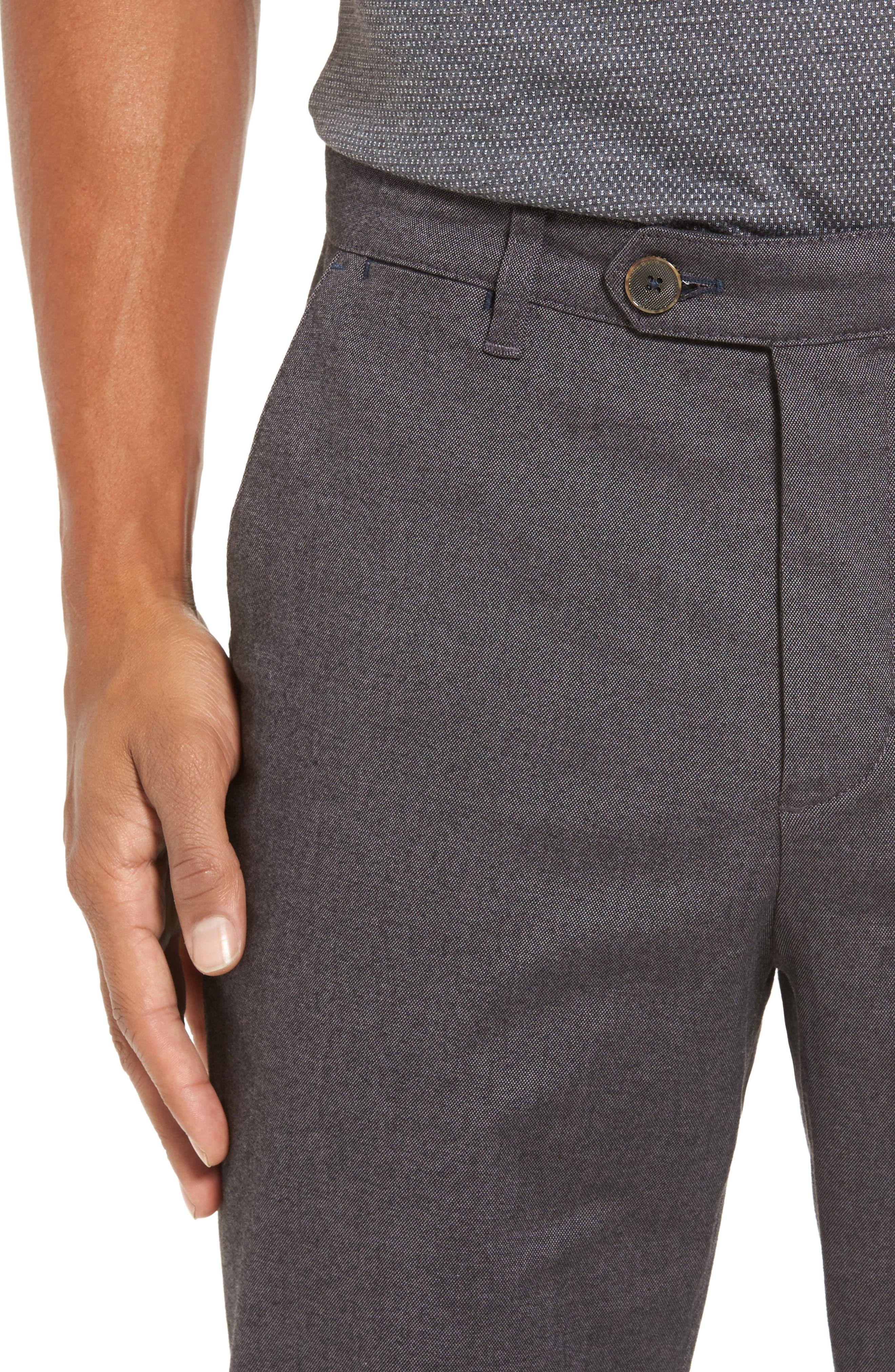 Modern Slim Fit Trousers,                             Alternate thumbnail 4, color,                             010