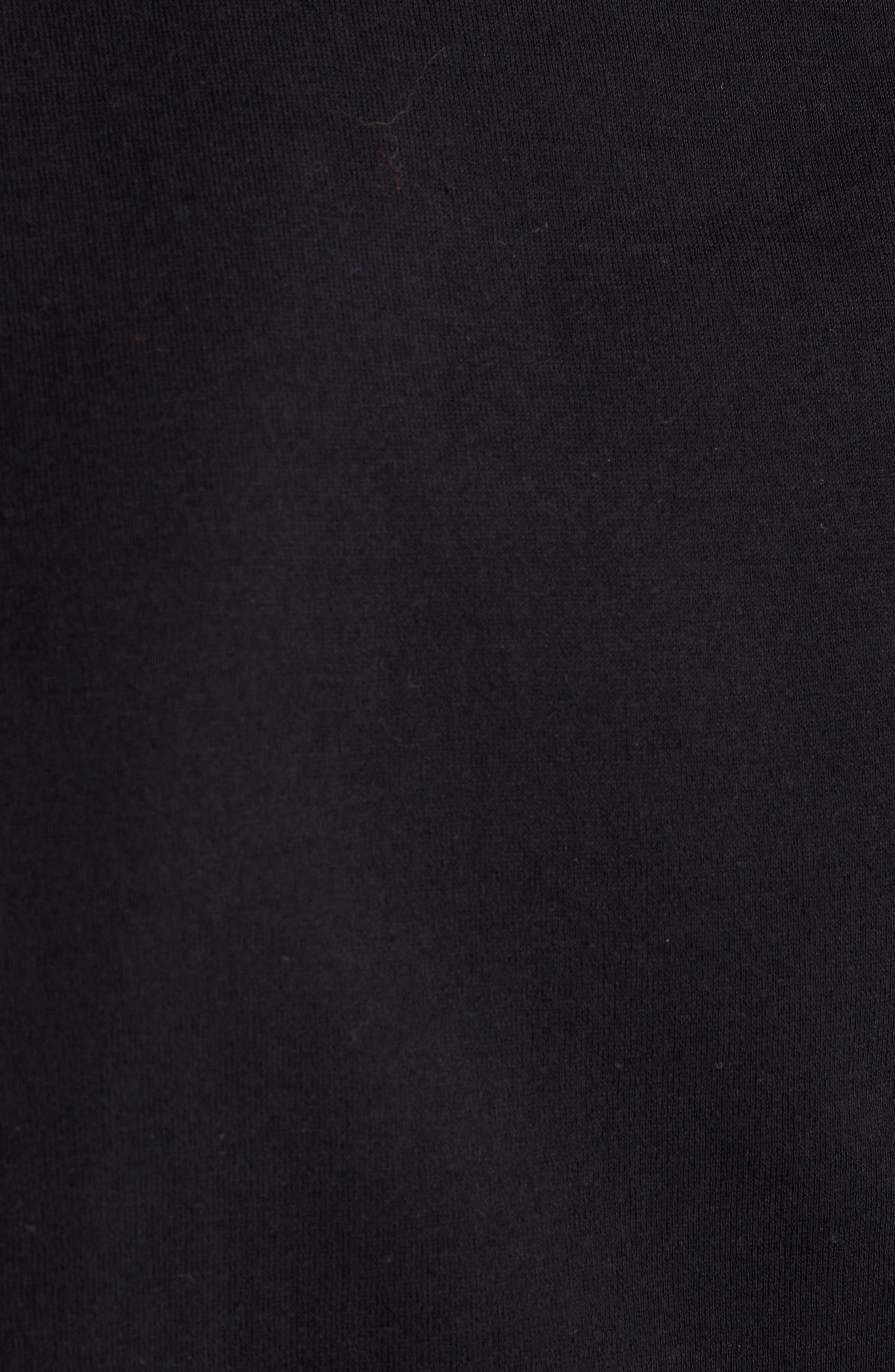 Chevron Stitch T-Shirt,                             Alternate thumbnail 5, color,                             BLACK