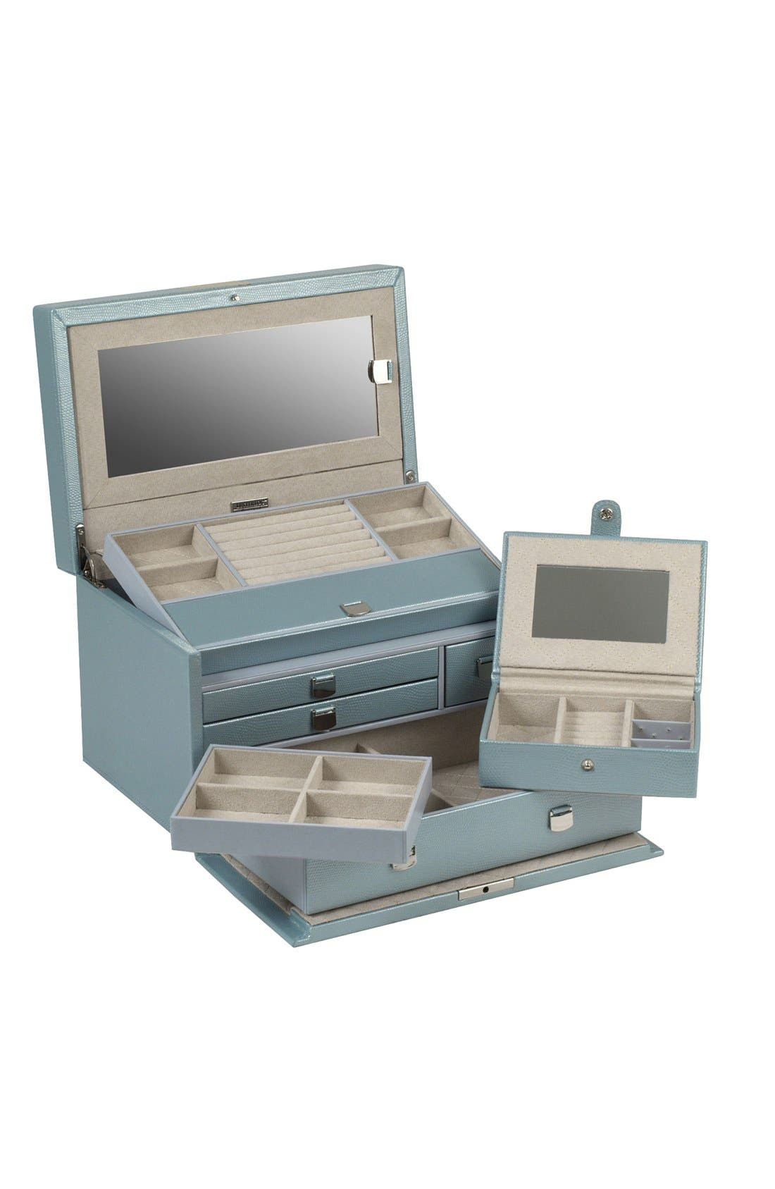 London Medium Jewelry Box,                             Alternate thumbnail 2, color,                             ICE BLUE