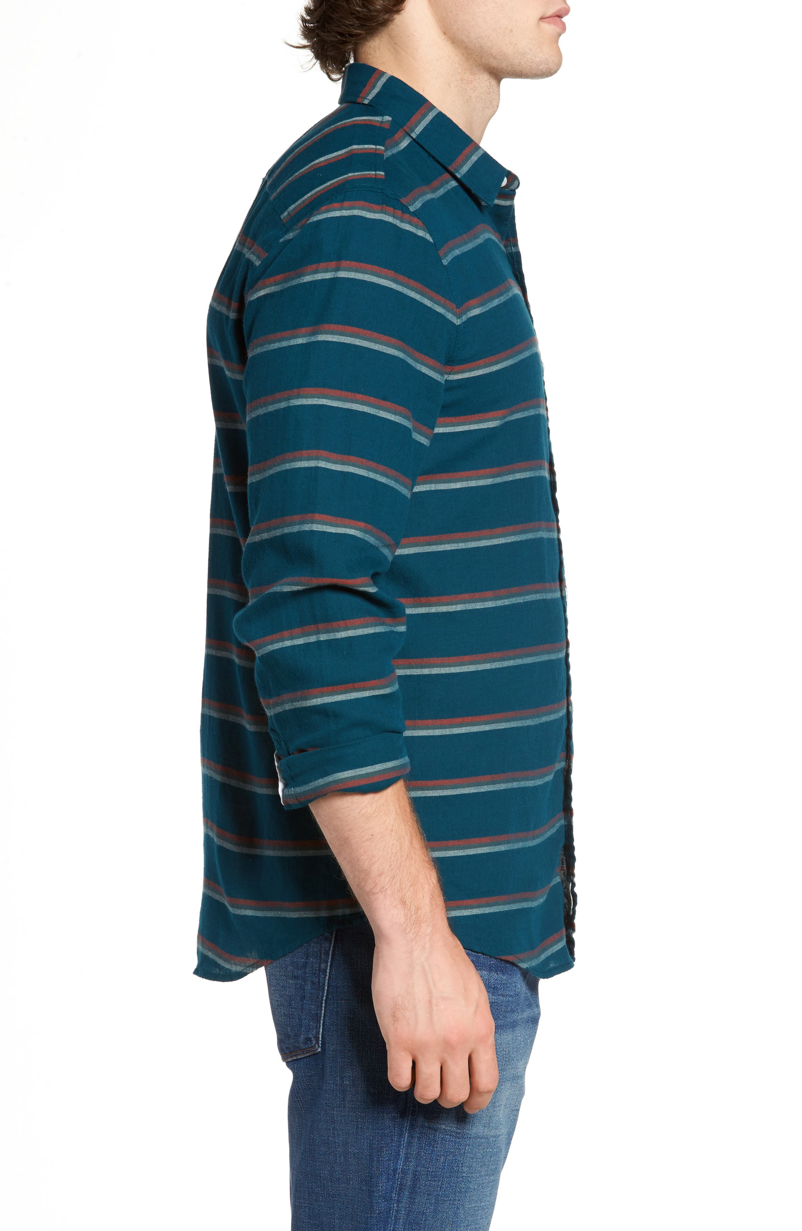 Stripe Twill Shirt,                             Alternate thumbnail 6, color,