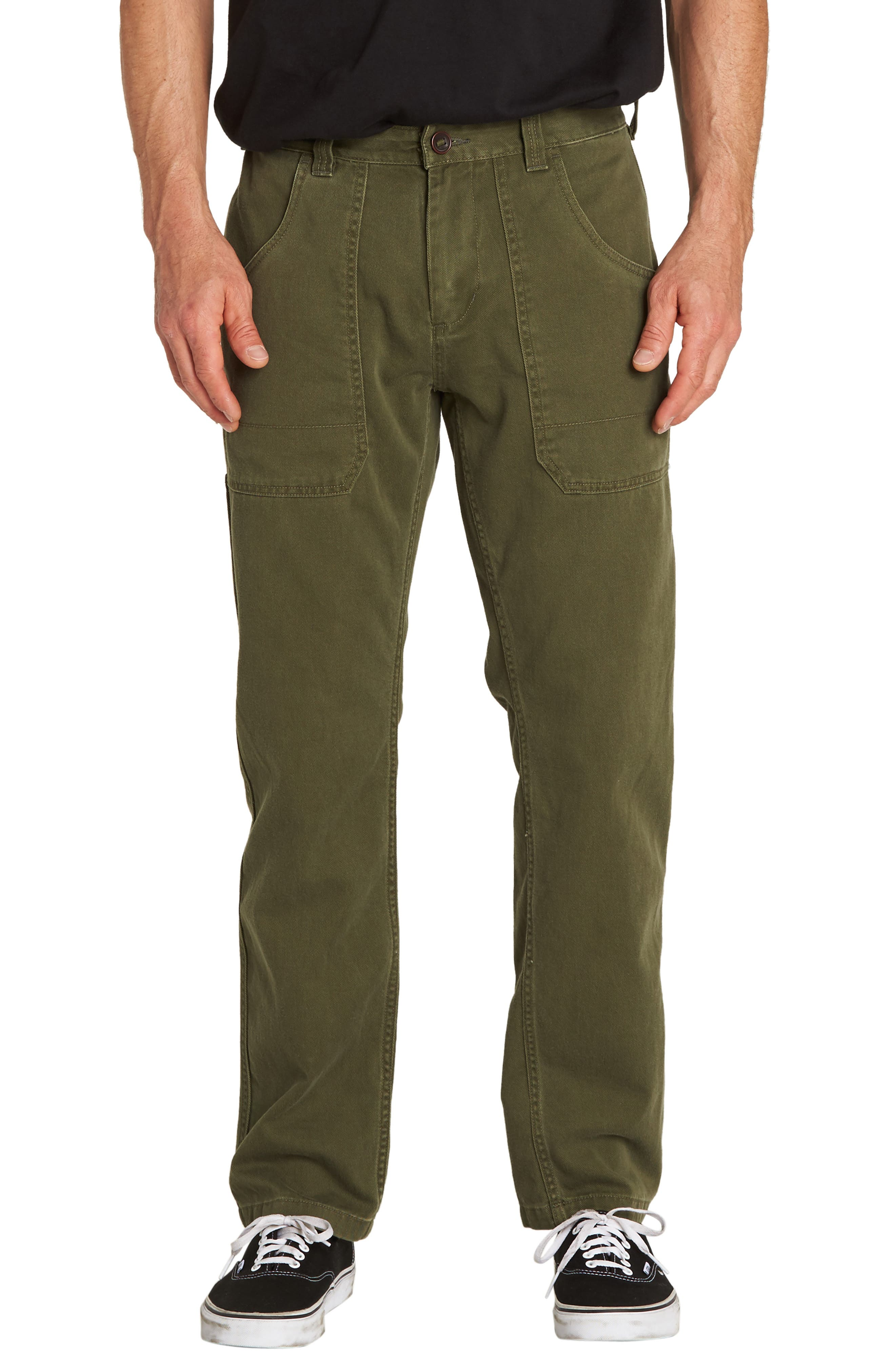 Collins Slim Straight Pants,                             Main thumbnail 1, color,                             MILITARY