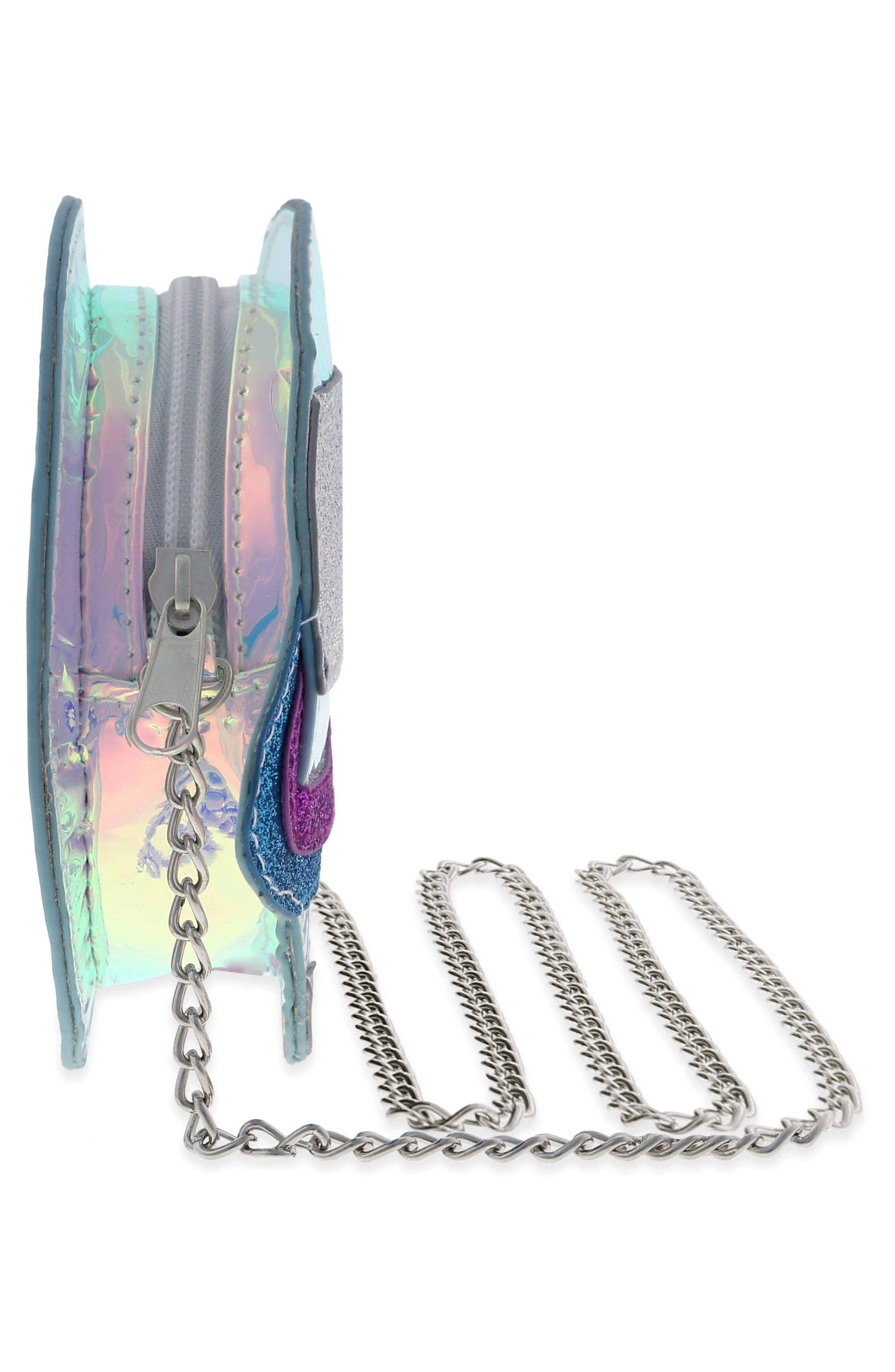 Glitter Planet Crossbody Bag,                             Alternate thumbnail 4, color,                             MULTI COMBO