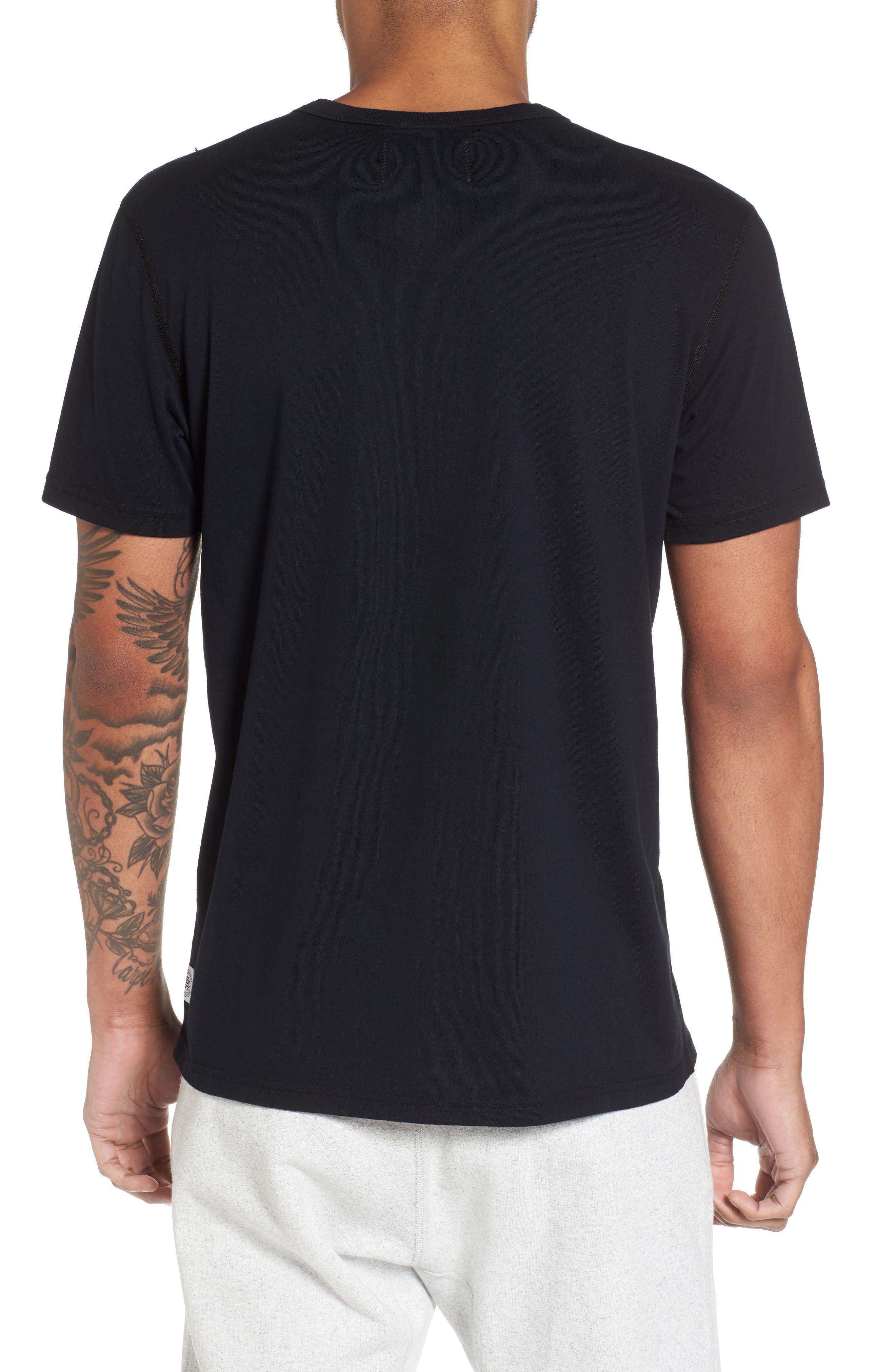 Gym Logo T-Shirt,                             Alternate thumbnail 2, color,                             BLACK/ WHITE
