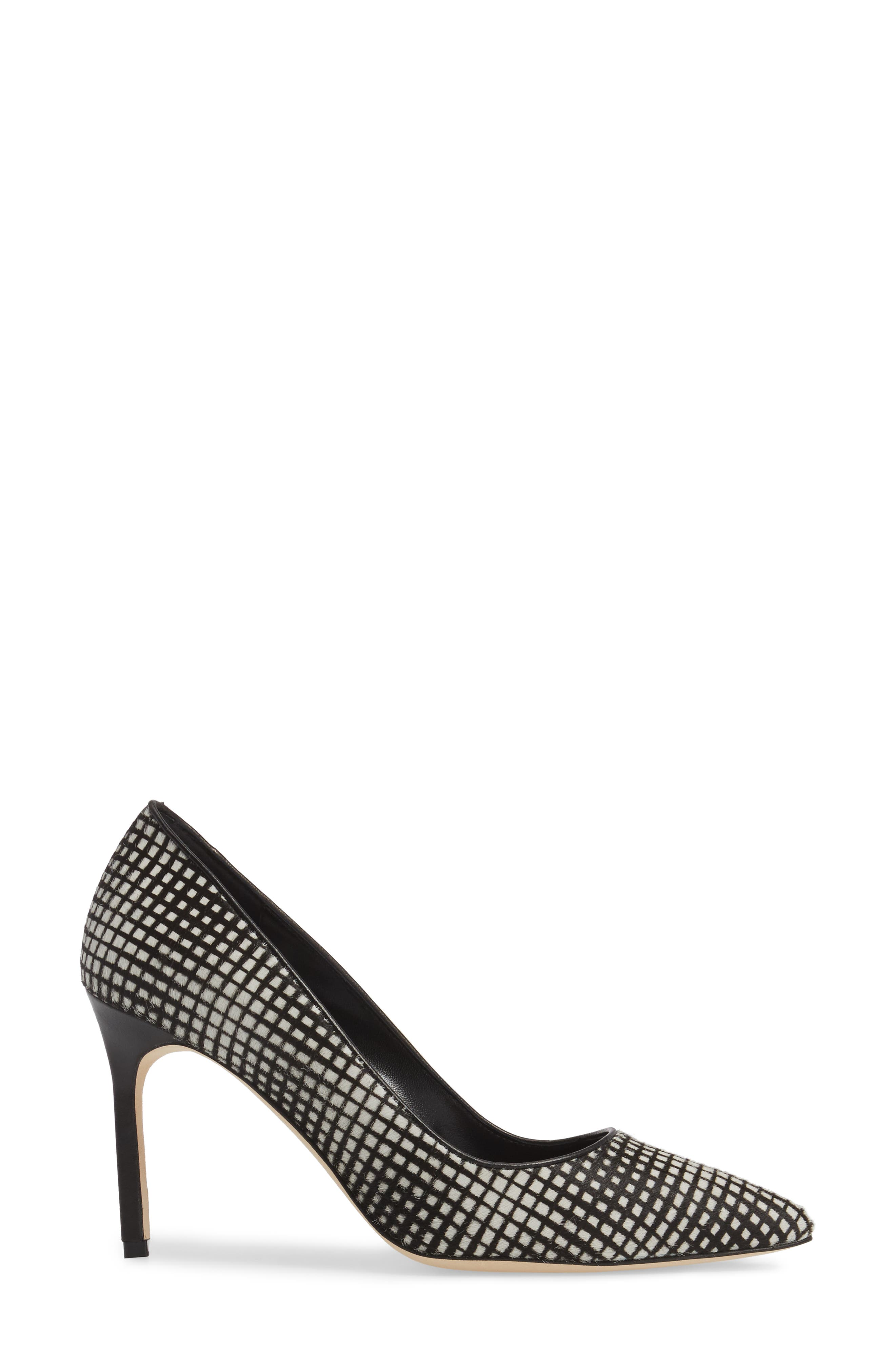 BB Genuine Calf Hair Pump,                             Alternate thumbnail 3, color,                             001