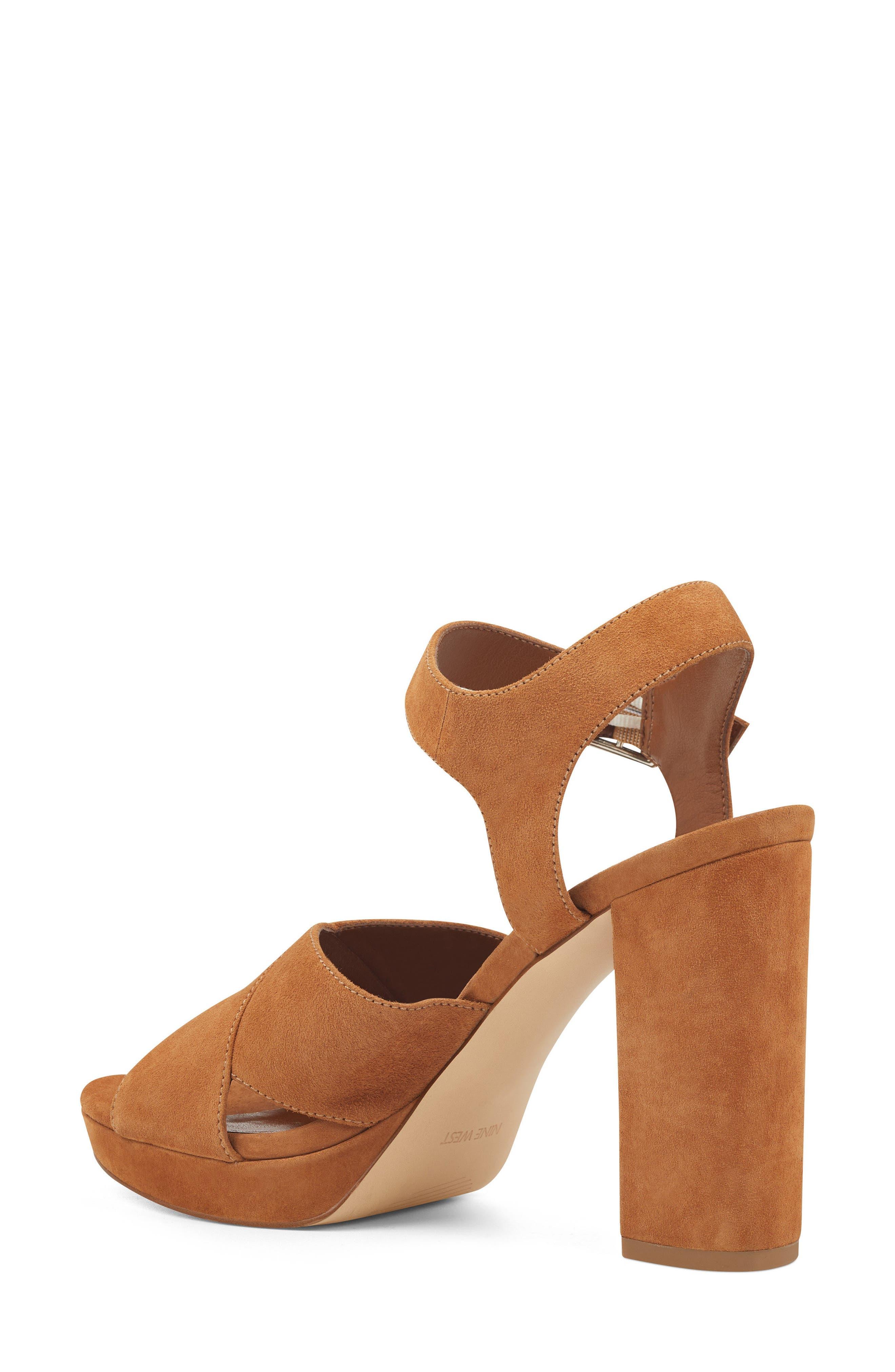 Jimar Platform Sandal,                             Alternate thumbnail 2, color,                             DARK NATURAL SUEDE
